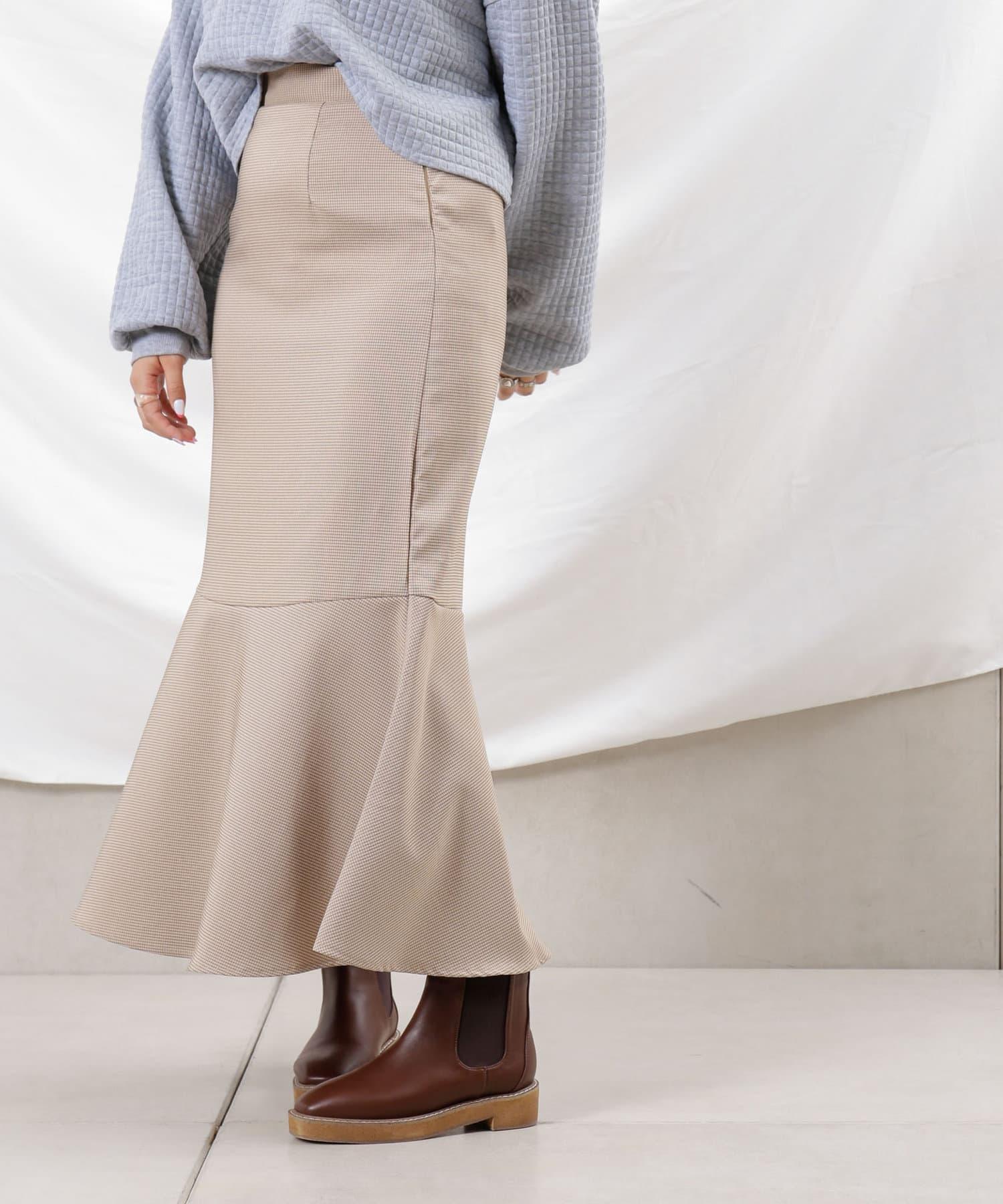 Thevon(ゼヴォン) 【WEB限定】チェックマーメイドスカート