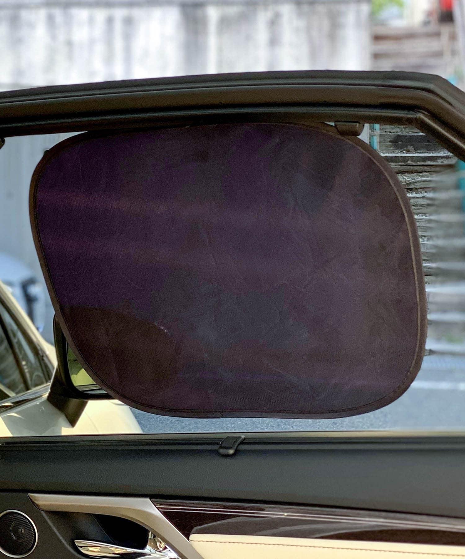 3COINS(スリーコインズ) ライフスタイル 【ドライブを快適に】CAR吸盤のいらないサンシェード2個セット ブラック