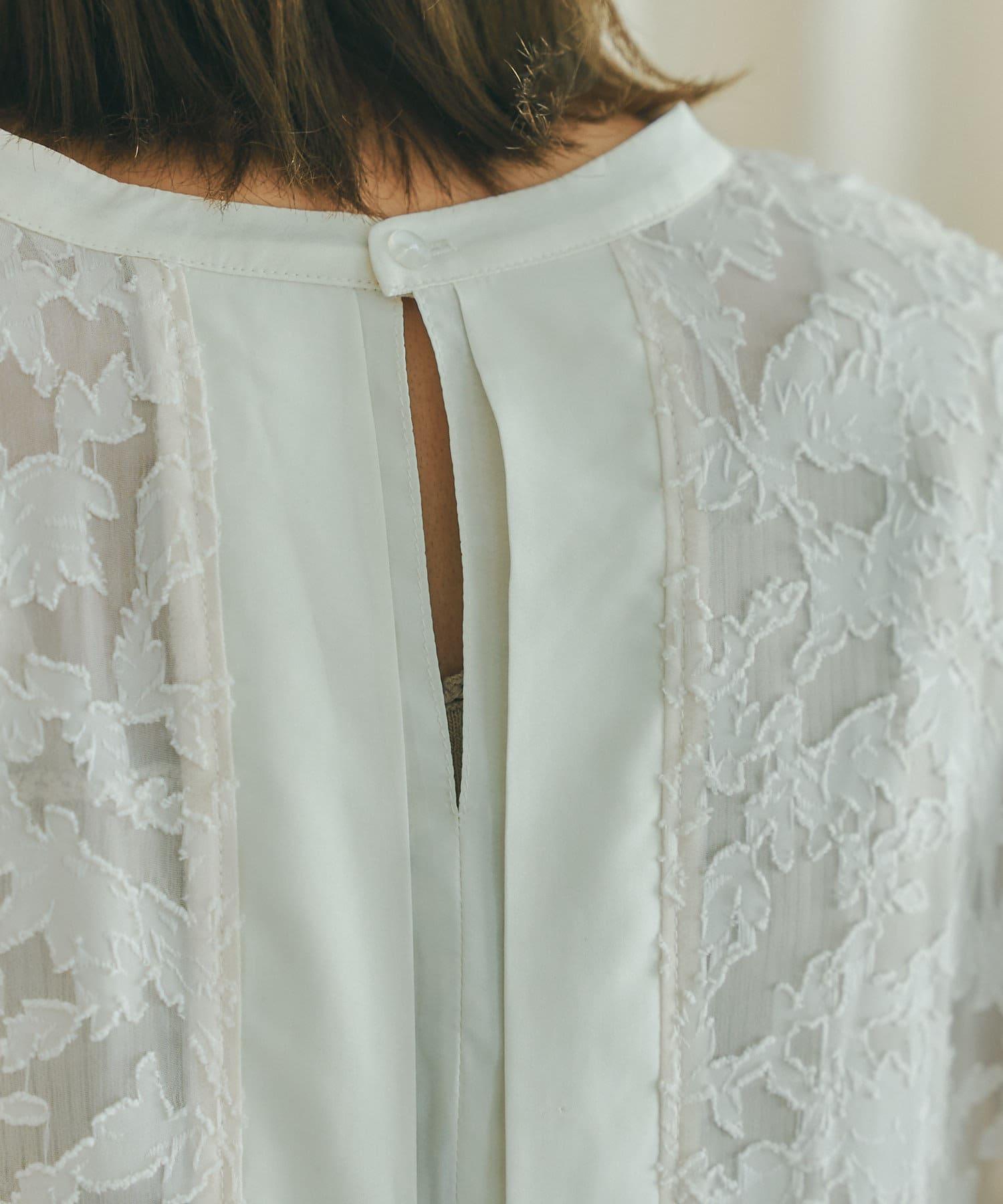 mona Belinda(モナ ベリンダ) 《秋冬仕様》シアージャガードバックリボンシャツ2