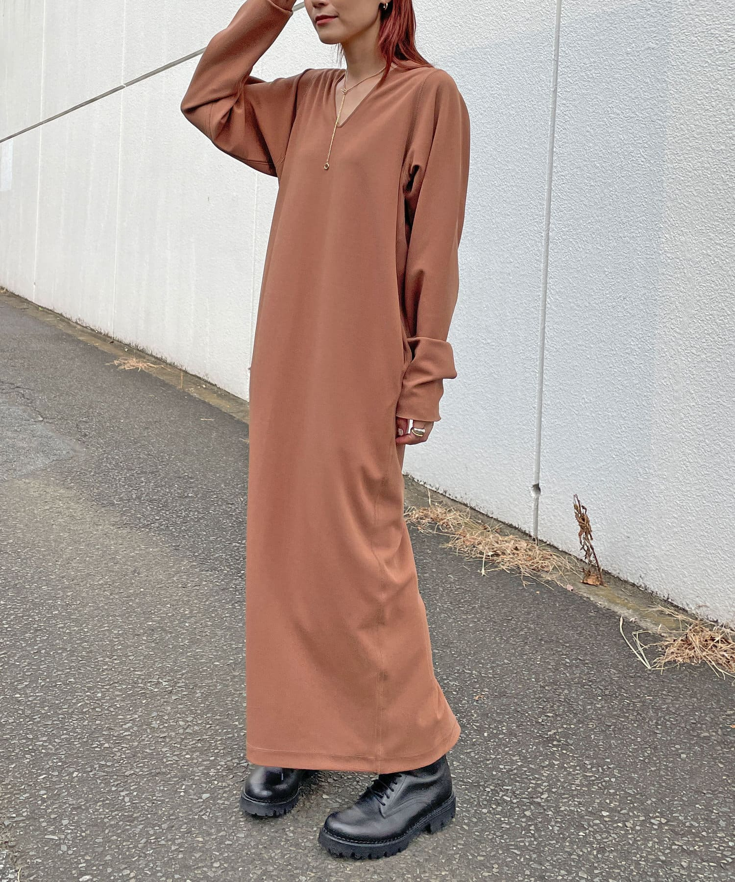 Omekashi(オメカシ) Önf(オンフ) カットジョーゼットナロードレス