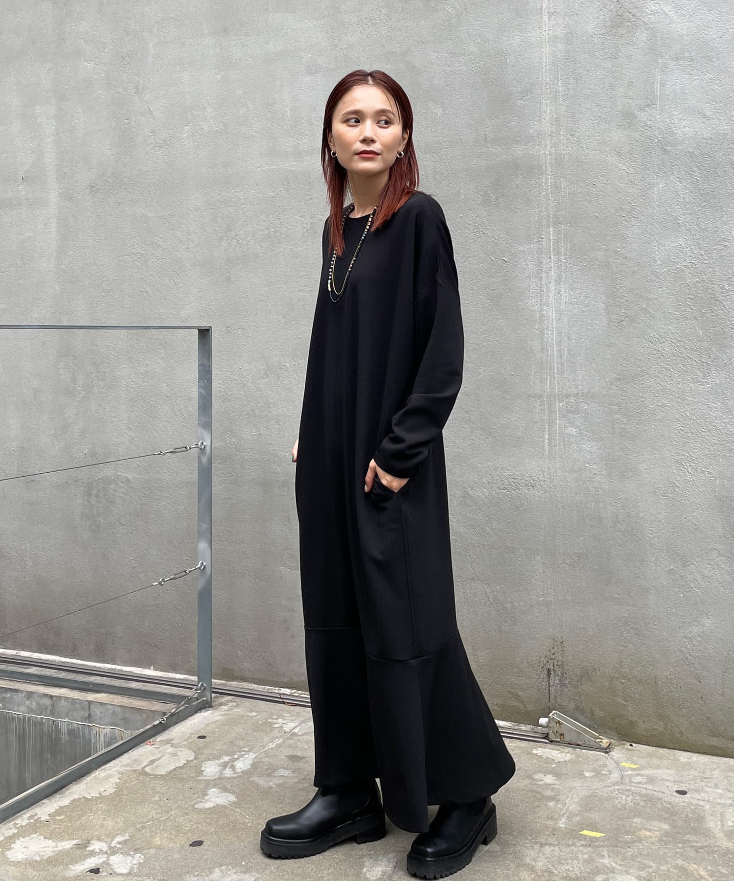 Omekashi(オメカシ) Önf(オンフ) カットジョーゼットペプラムドレス