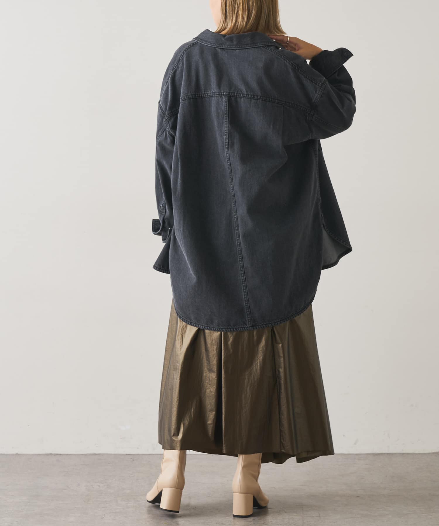 Omekashi(オメカシ) デニムビッグシャツ