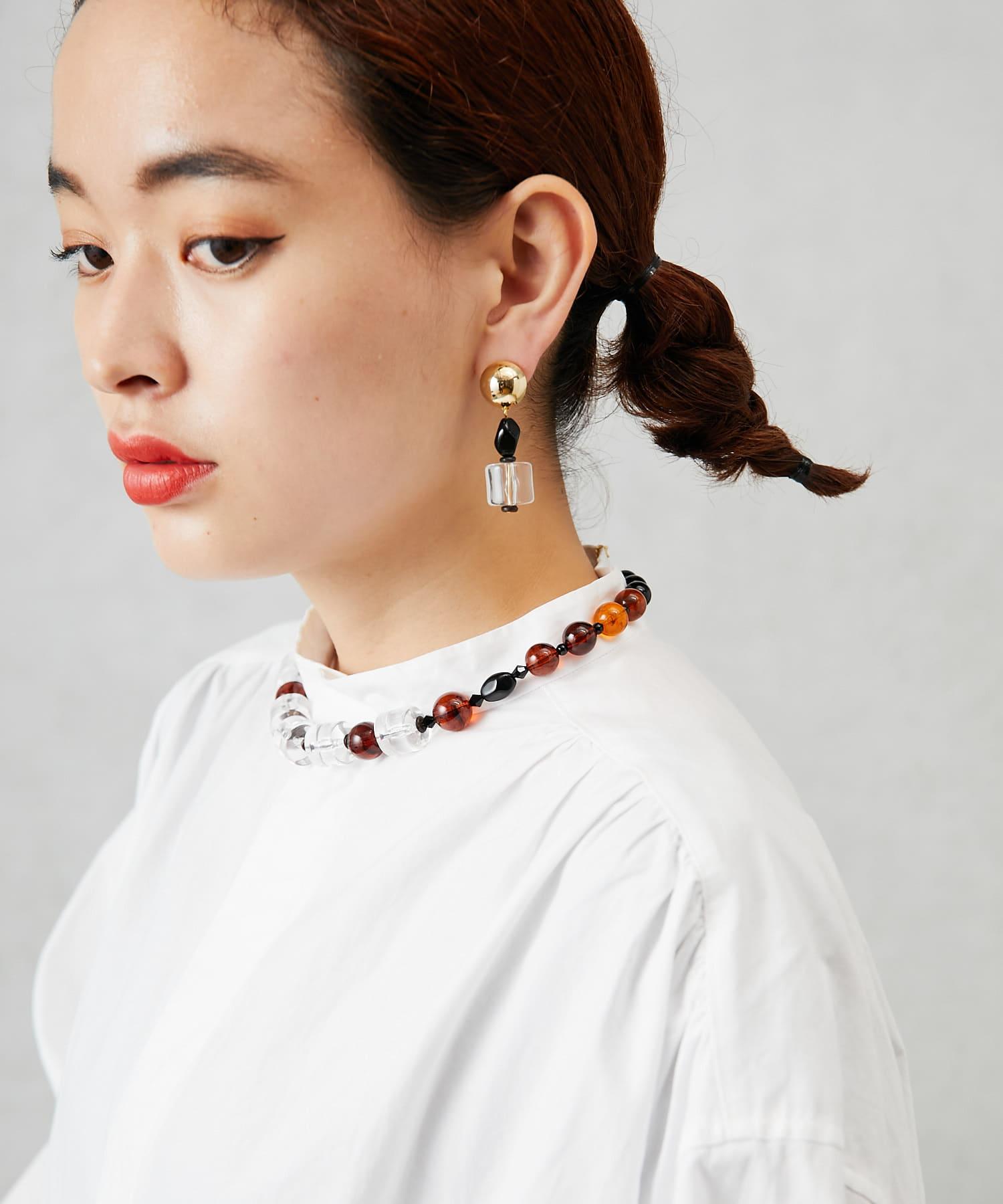 ear PAPILLONNER(イア パピヨネ) クリアカンネックレス