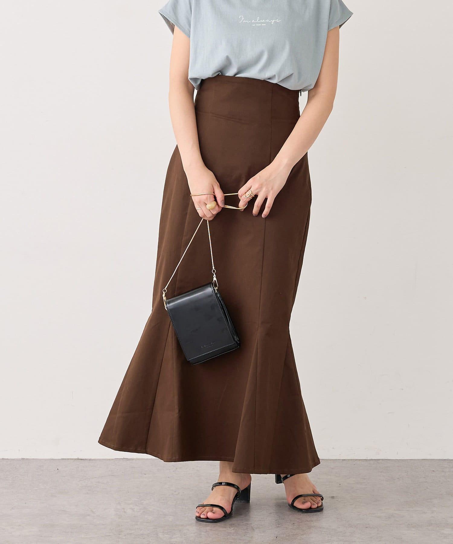 natural couture(ナチュラルクチュール) 【WEB限定】ハイウエストマーメイドスカートSサイズ