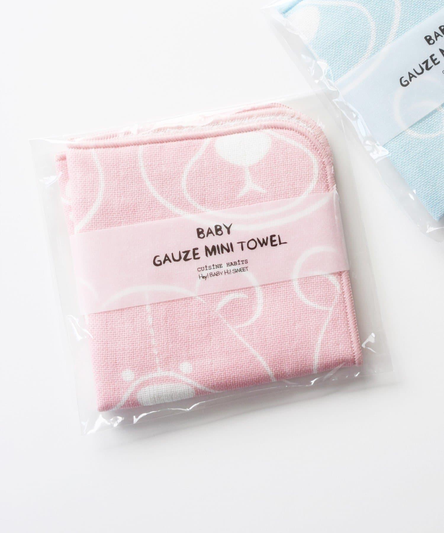 BIRTHDAY BAR(バースデイバー) キッズ BABY ガーゼミニタオル ピンク