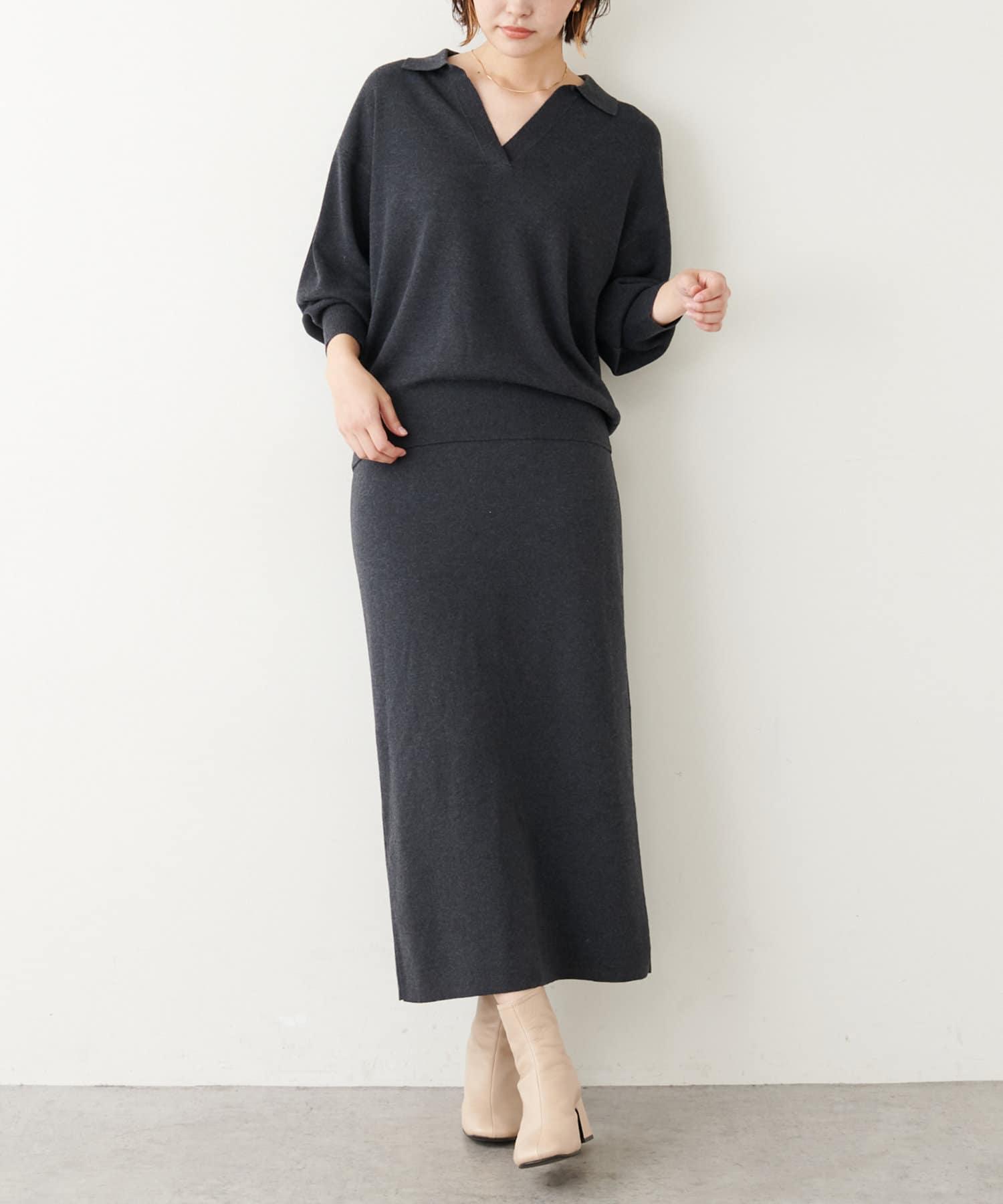 COLLAGE GALLARDAGALANTE(コラージュ ガリャルダガランテ) 衿付きニットセットアップ
