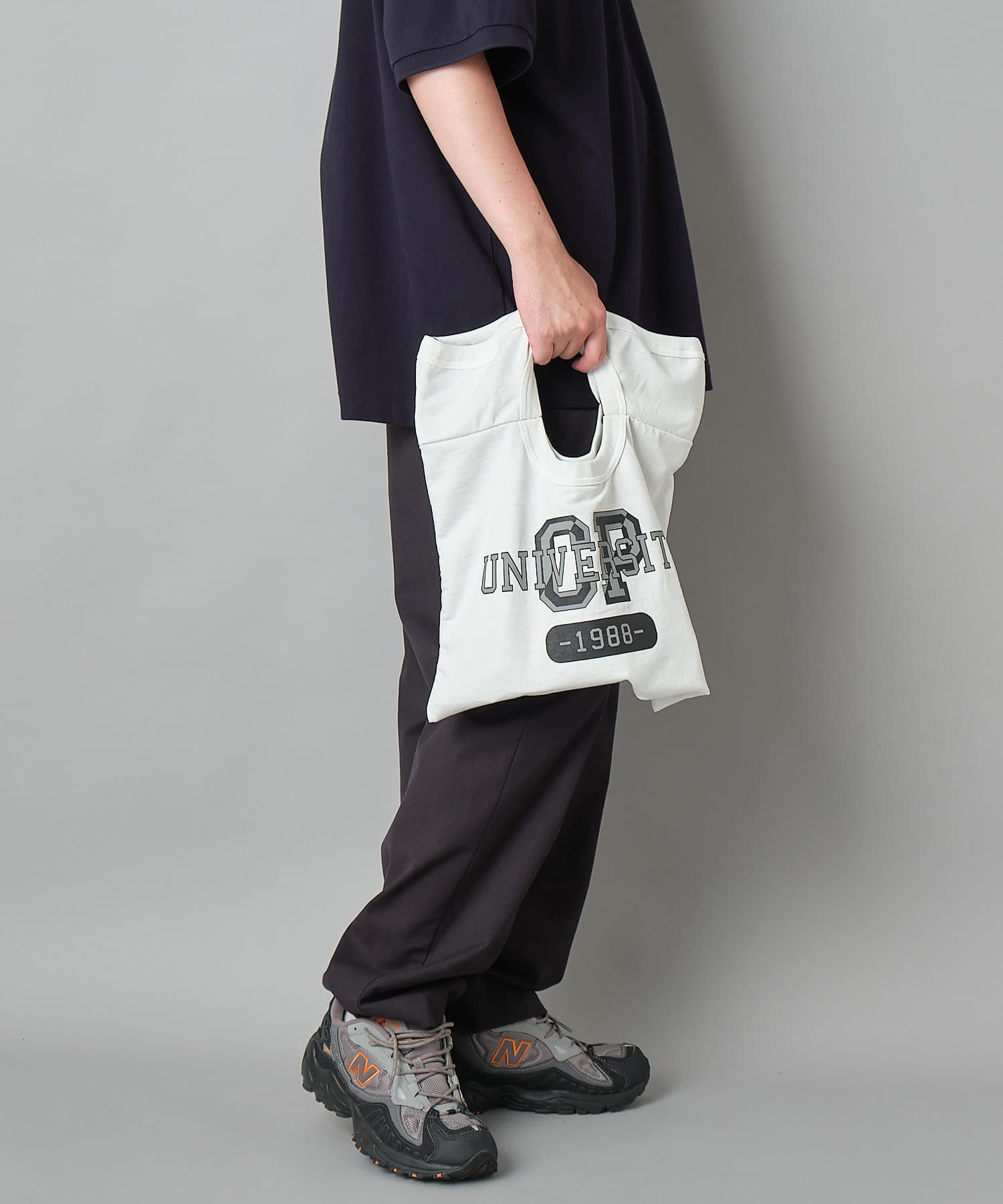 OUTLET(アウトレット) 【Ciaopanic】メッシュ切替カレッジプリントTシャツリメイク風トートバッグ