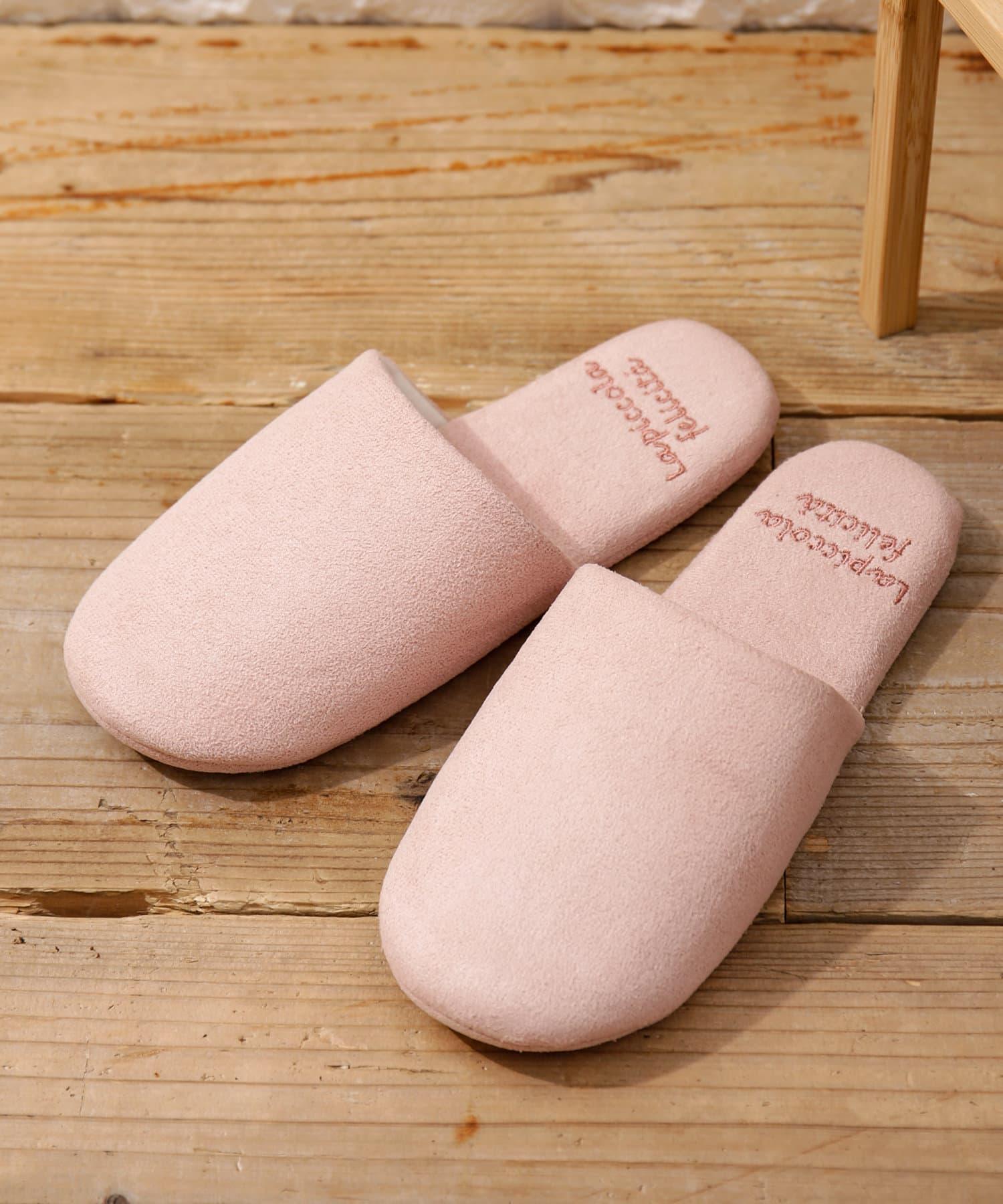 3COINS(スリーコインズ) ライフスタイル 【素材で季節を取り入れよう】洗えるスエード調スリッパ ピンク
