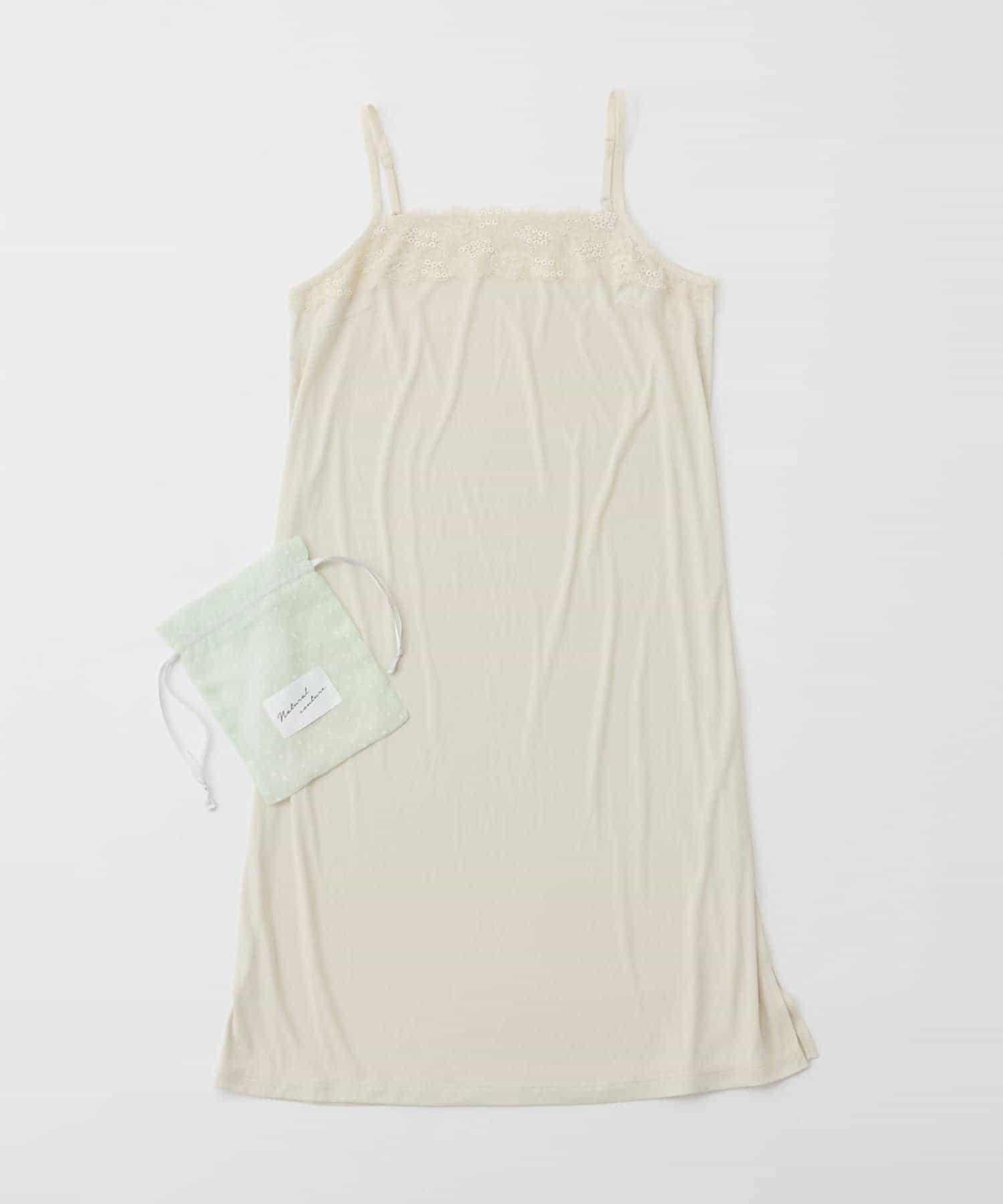 natural couture(ナチュラルクチュール) 巾着付きレースインナードレス