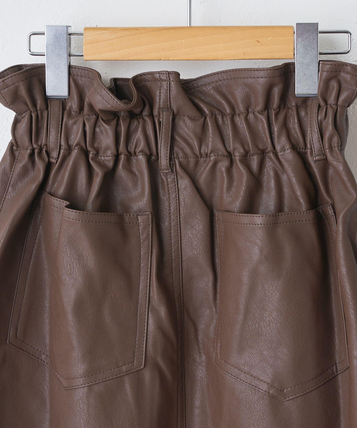 OLIVE des OLIVE OUTLET(オリーブ・デ・オリーブ アウトレット) フェークレザーハイウエストスカート