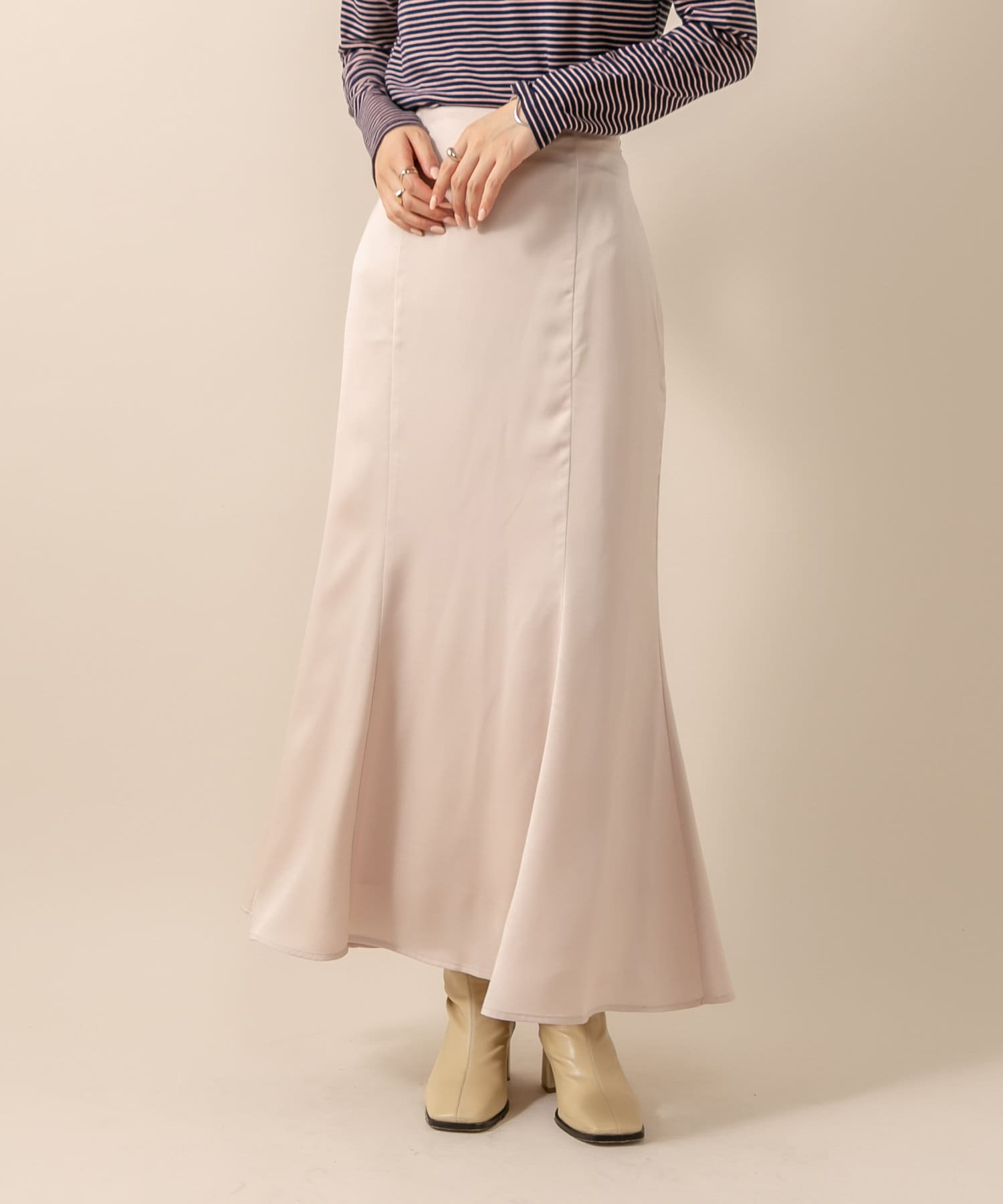 mystic(ミスティック) 【ライブコマース紹介】[mline] WEB限定 サテンマーメイドスカート