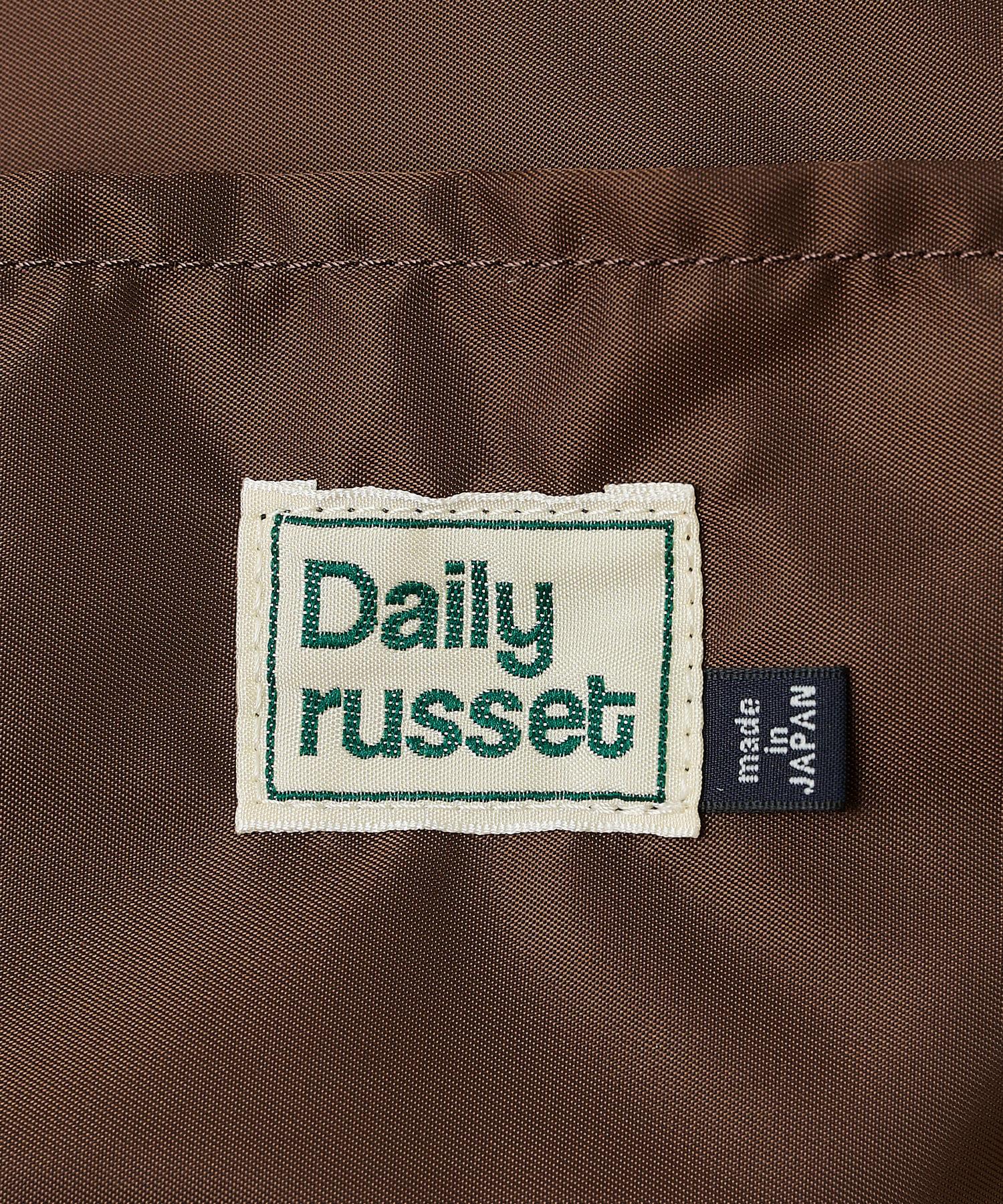 Daily russet(デイリー ラシット) 【ナイロンジャガード】チェックダイヤ型底トートバッグ(L)