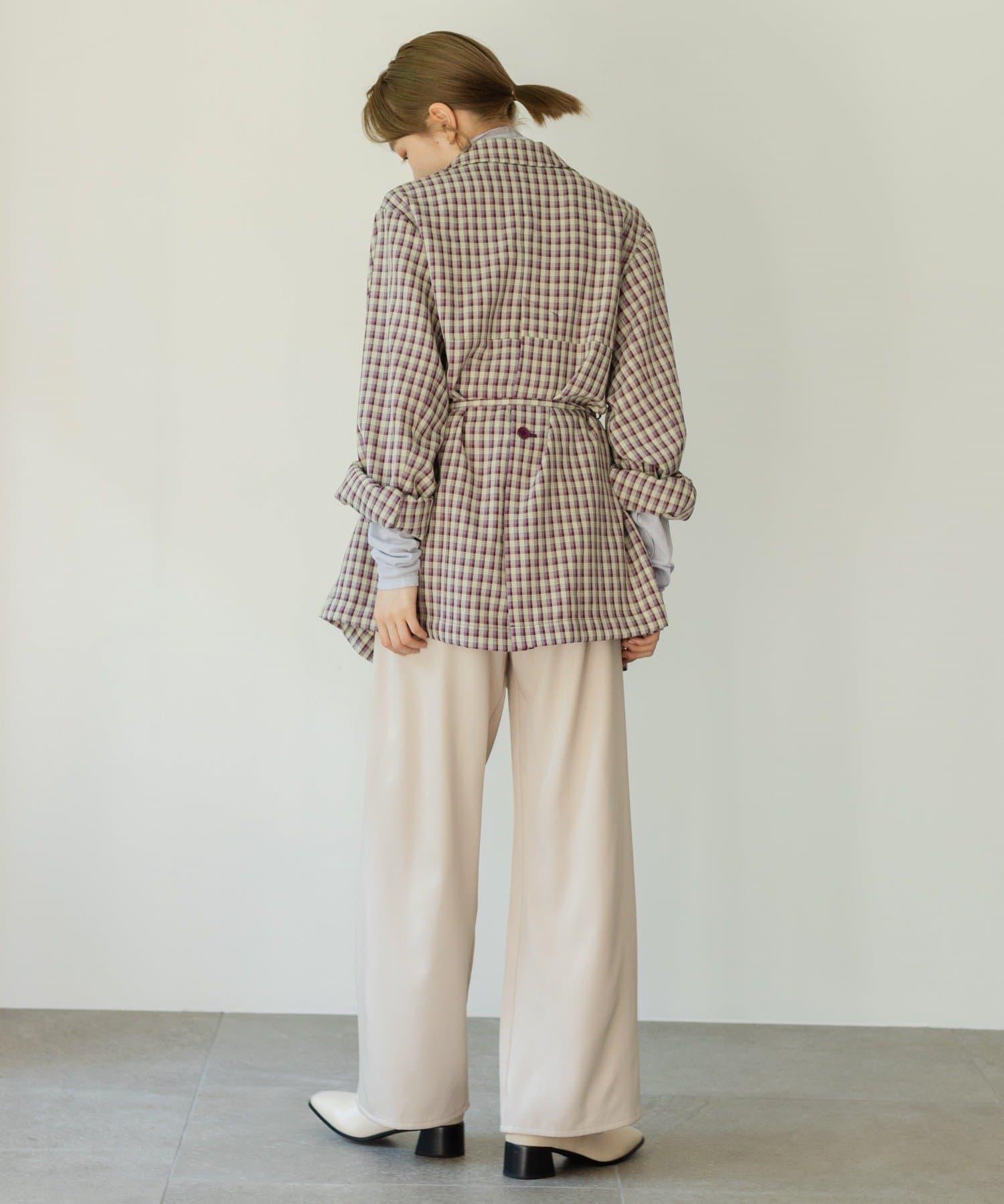 Kastane(カスタネ) 【カタログ掲載アイテム】チェックSETUP紐付きジャケット