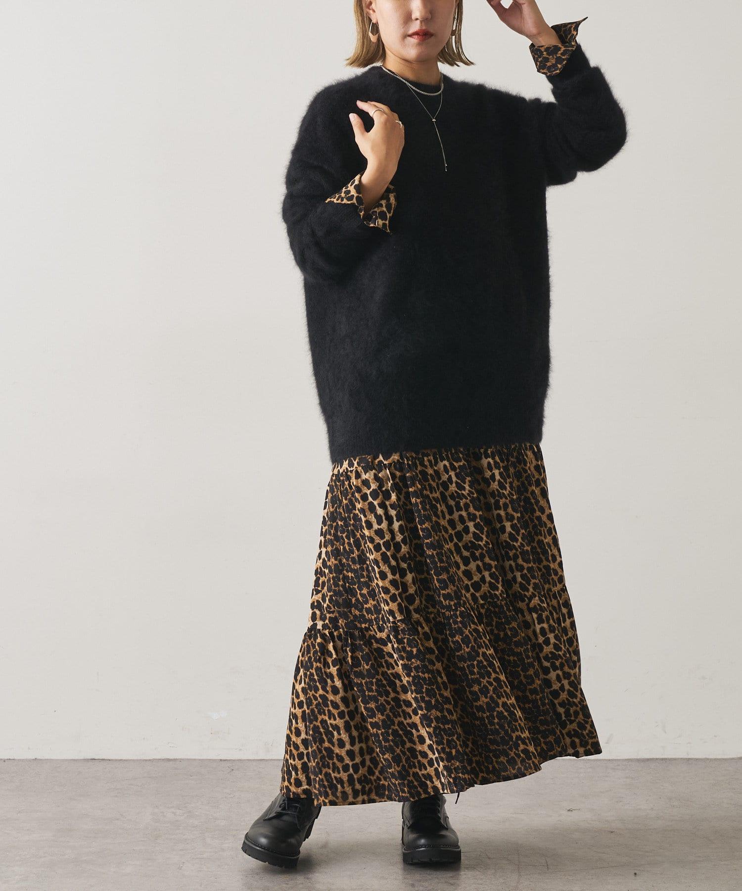 Omekashi(オメカシ) レオパードティアードワンピース