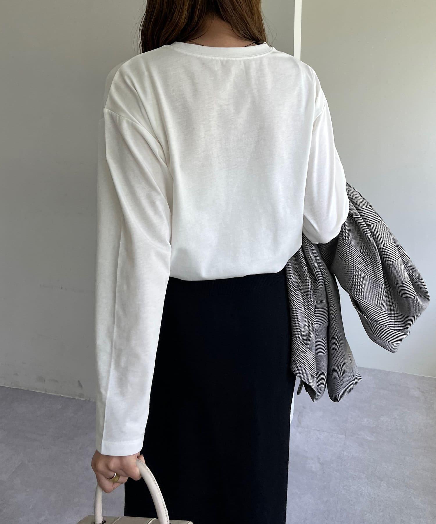 Discoat(ディスコート) 【WEB限定】刺繍ロゴロングTシャツ