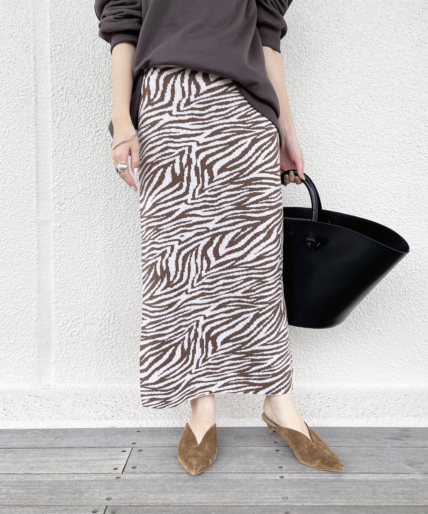 Loungedress(ラウンジドレス) ニットジャガード柄スカート