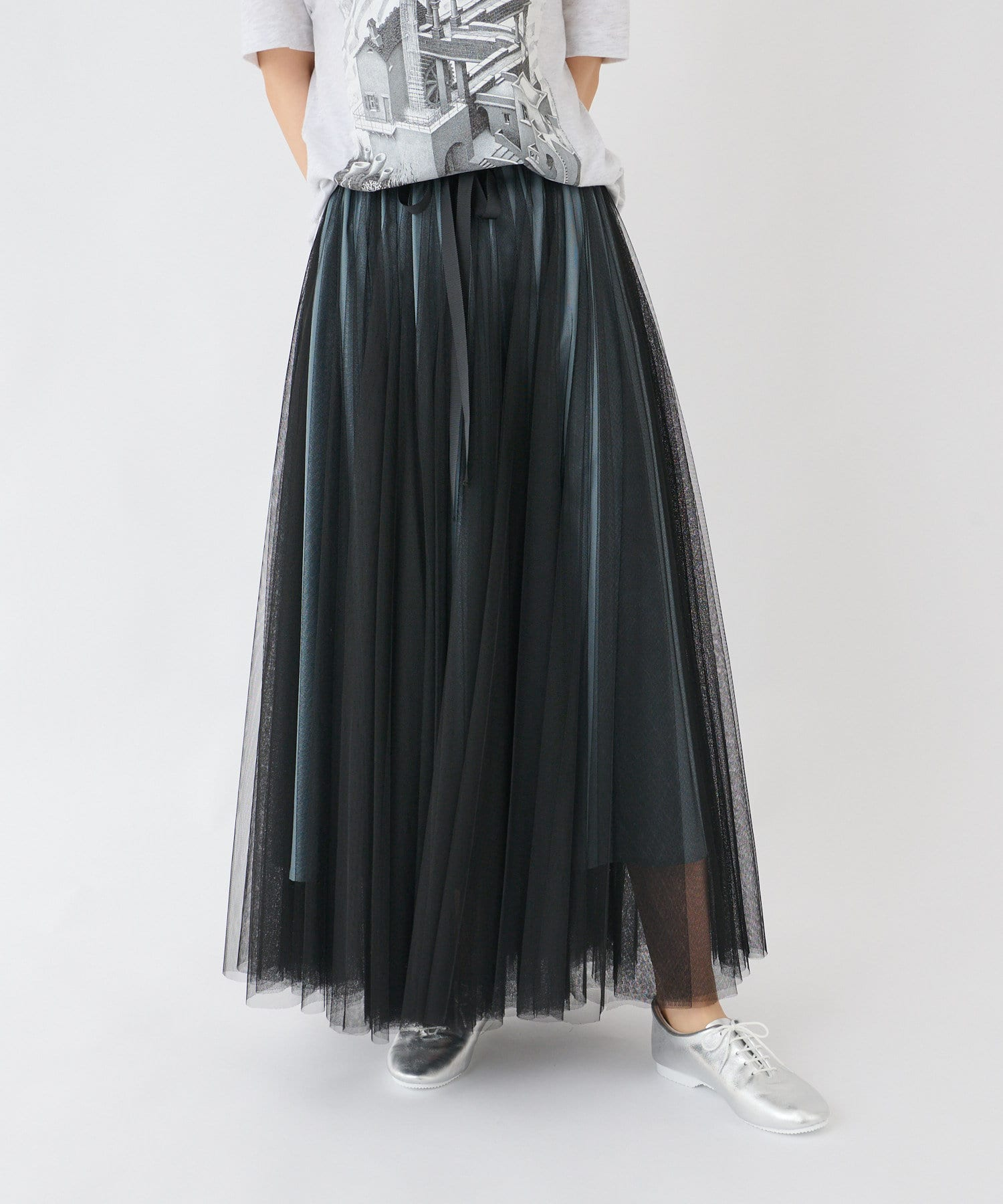 BONbazaar(ボンバザール) 配色チュールスカート
