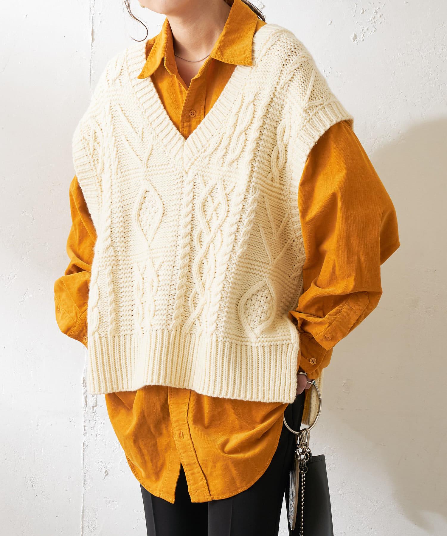 Discoat(ディスコート) メンズ 28Wコールビックシャツ マスタード