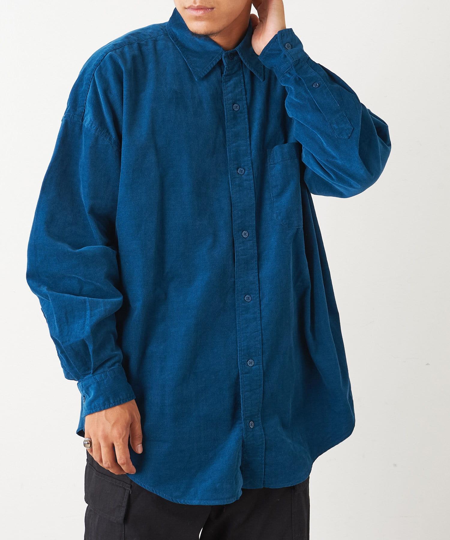 Discoat(ディスコート) メンズ 28Wコールビックシャツ ミッドナイトブルー