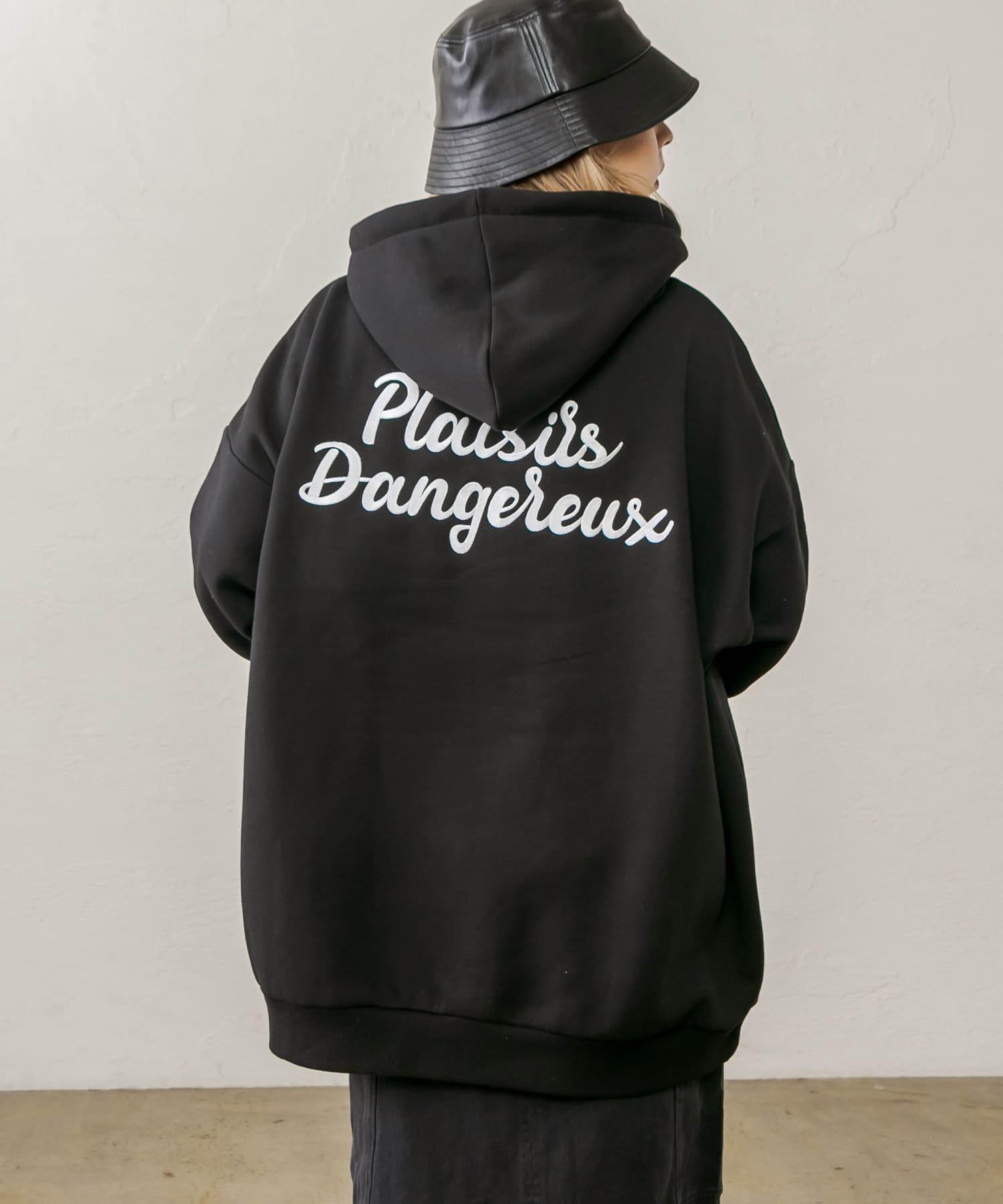 RASVOA(ラスボア) ロゴ刺繍ビッグパーカー