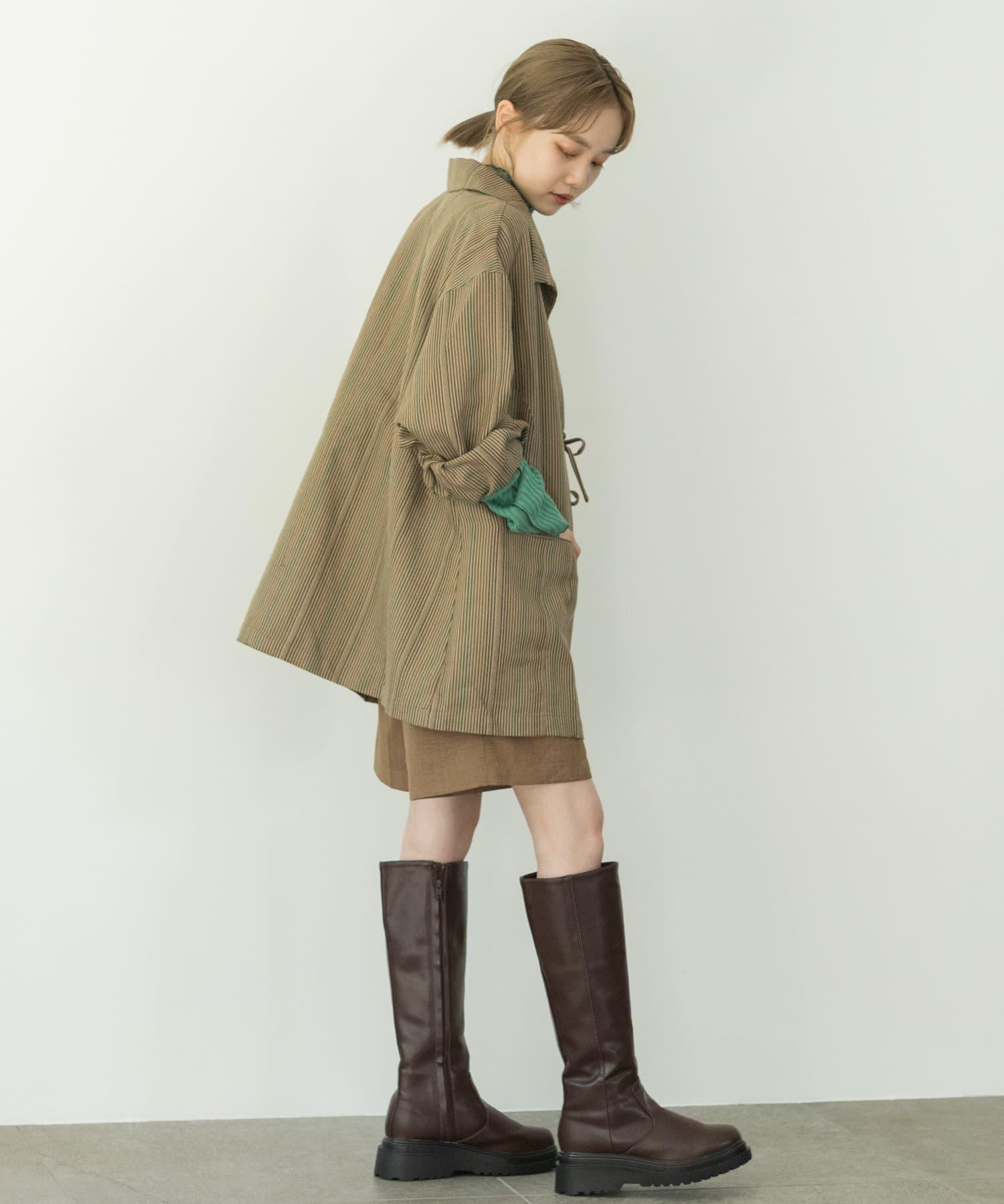 Kastane(カスタネ) 【カタログ掲載アイテム】マルチストライプ紐付きジャケット