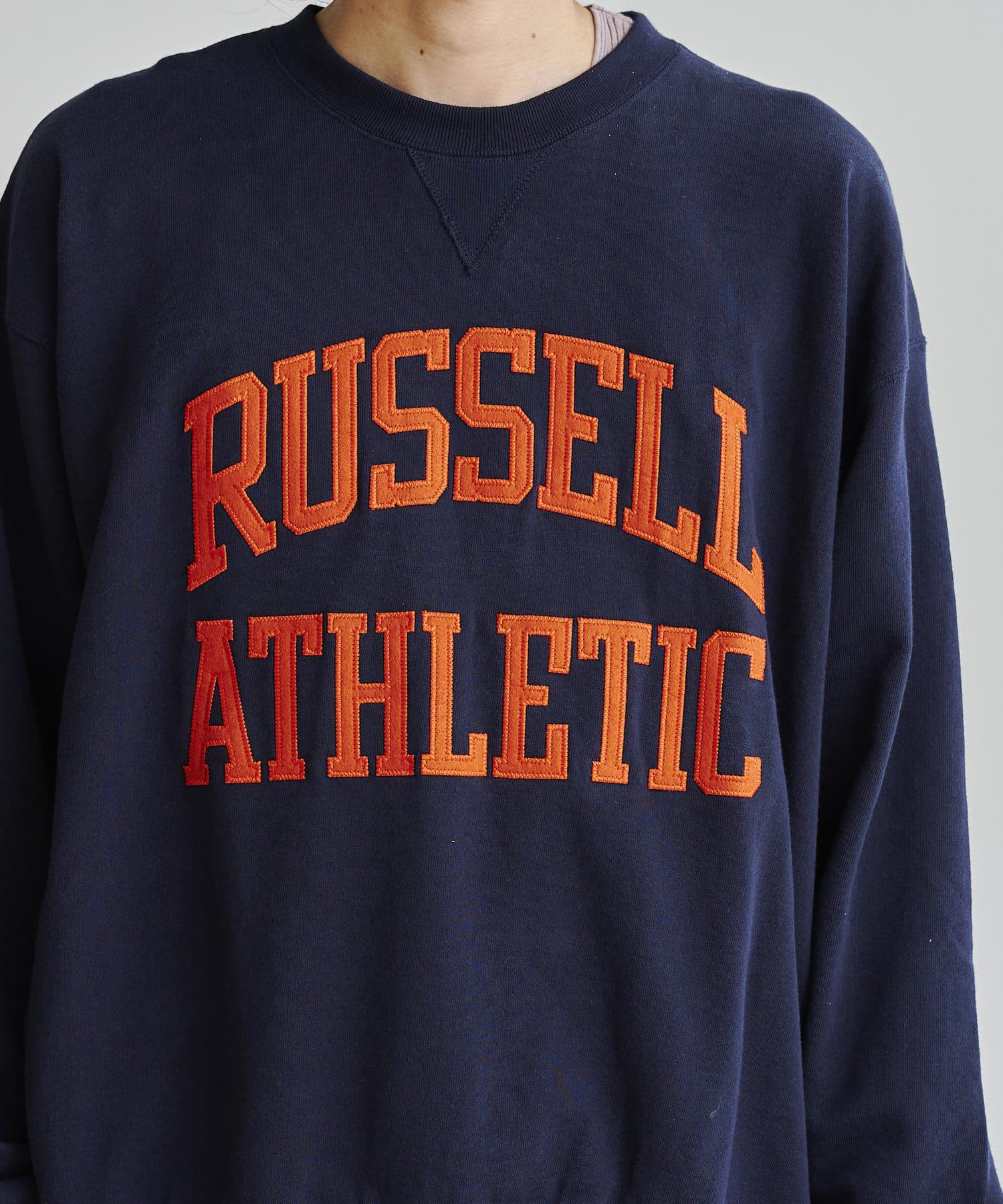 CPCM(シーピーシーエム) 【Russell Athletic】カレッジロゴクルースウェット