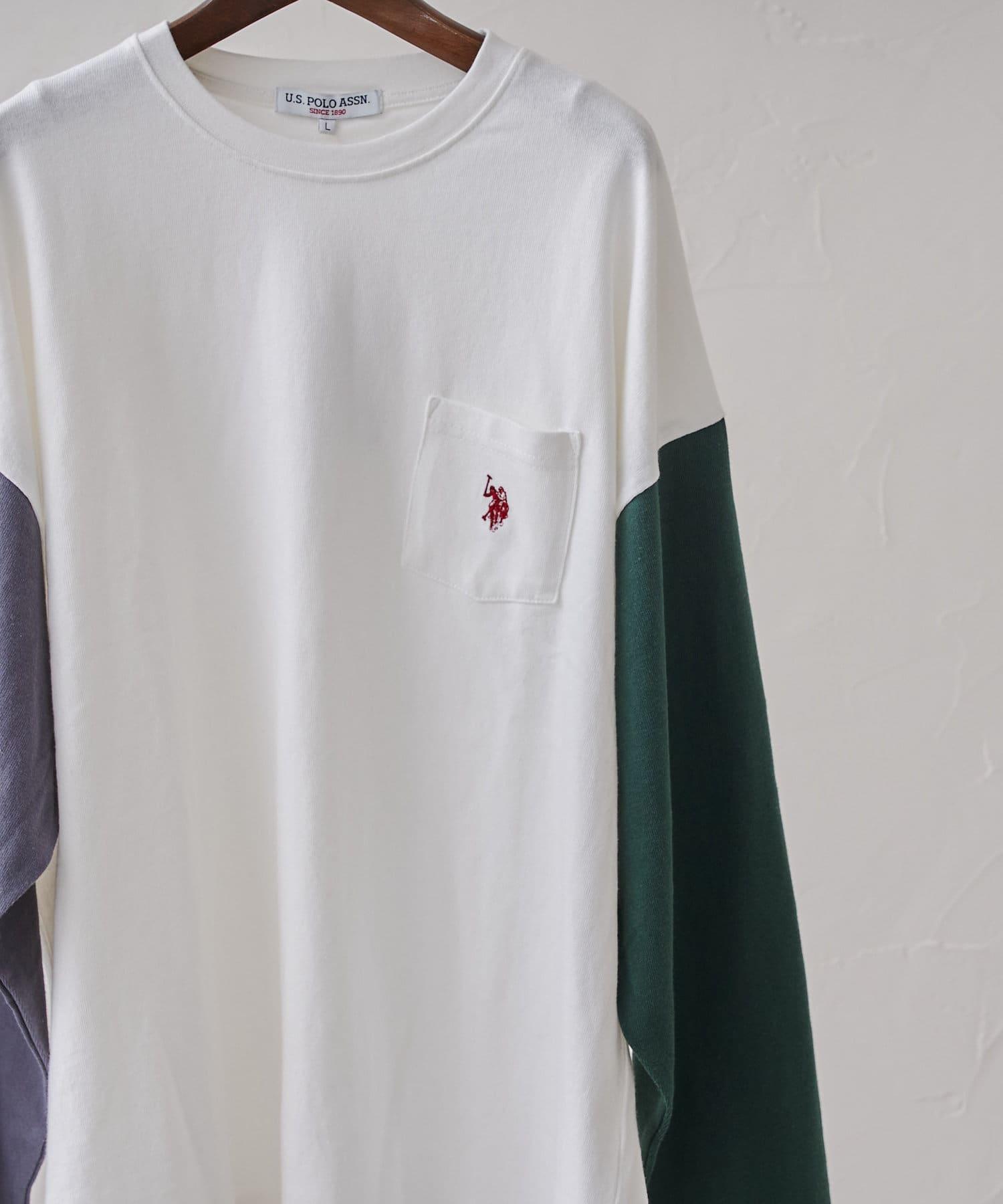 CPCM(シーピーシーエム) 【U.S. POLO ASSN.】胸ポケ1ポイント刺繍ロンT