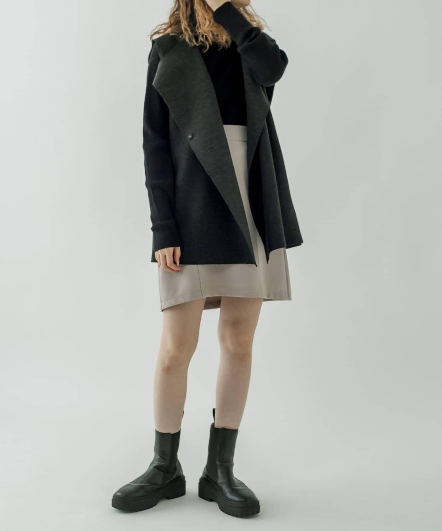 mystic(ミスティック) 【パルクロライブ紹介アイテム】ベルト付起毛ジレ / ロングベスト