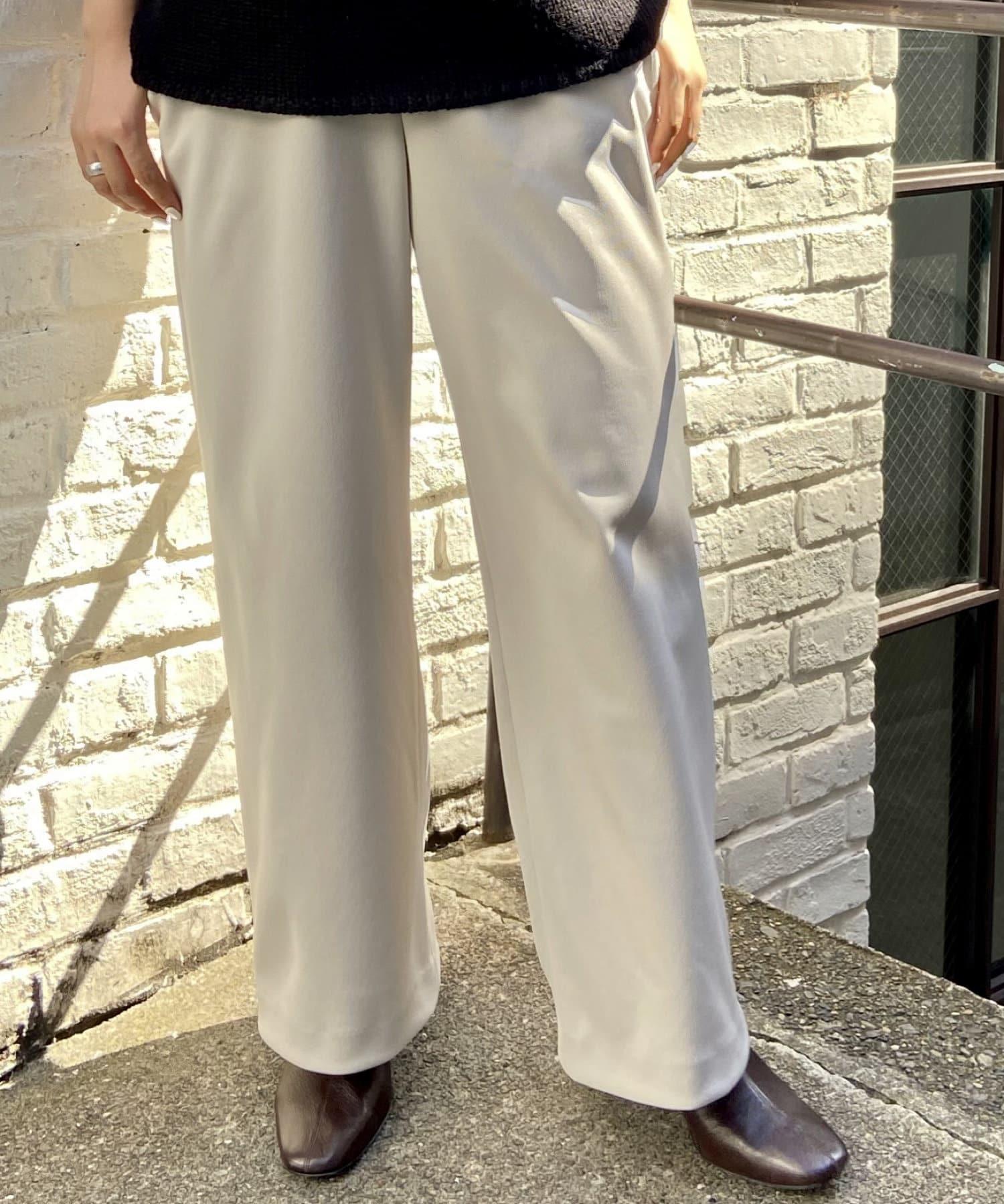 BEARDSLEY(ビアズリー) 《3サイズ展開》ウエストリブ裏起毛パンツ