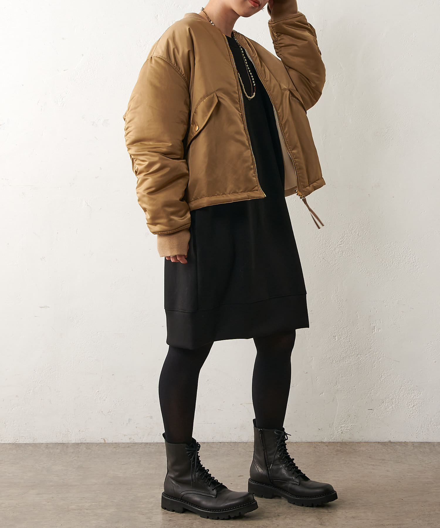 Omekashi(オメカシ) ライトダンボールチュニックプルオーバー