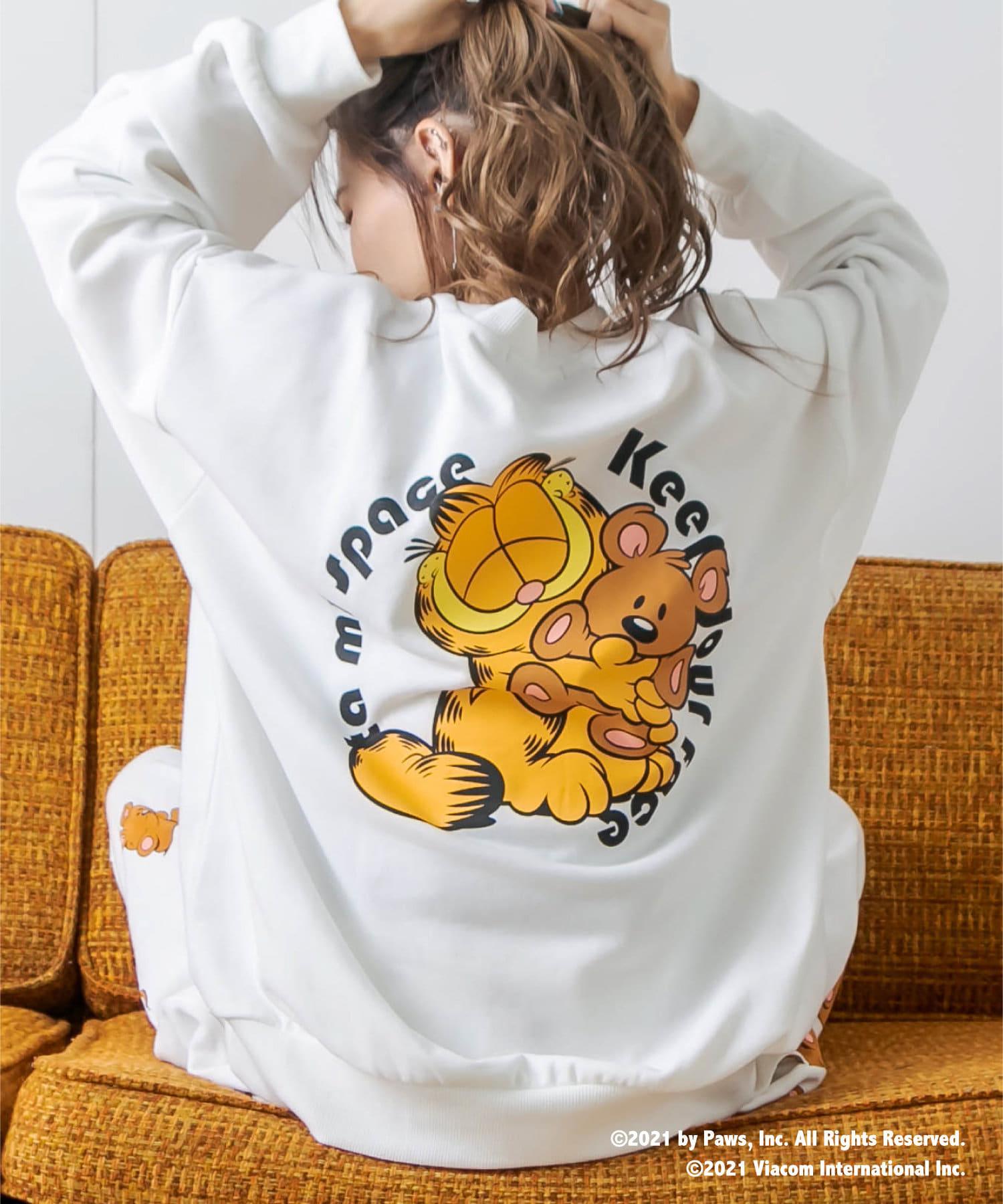 RASVOA(ラスボア) 【Garfieldコラボ】バックププリントルームスウェットトップス