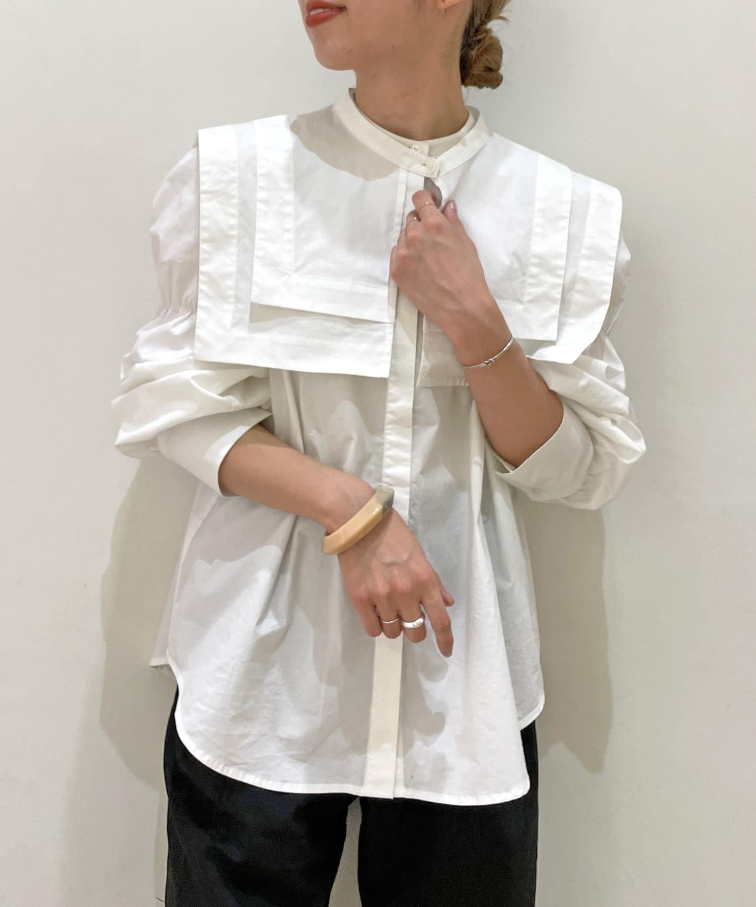 Omekashi(オメカシ) 襟付ブラウス