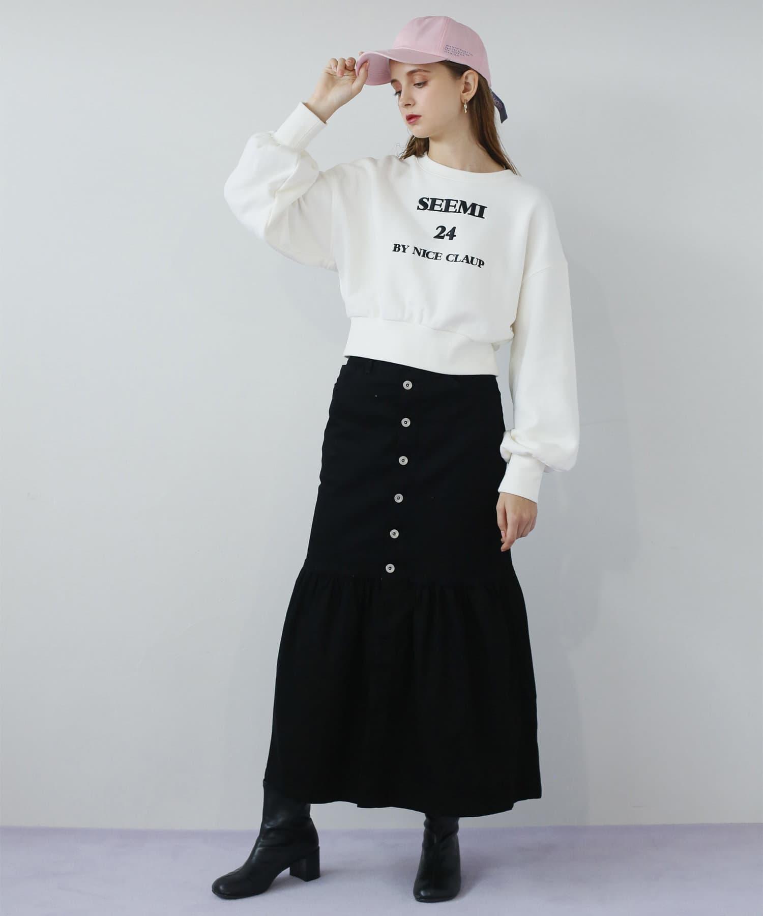 Seemi.by NICE CLAUP(シーミーバイナイスクラップ) デニムスカート