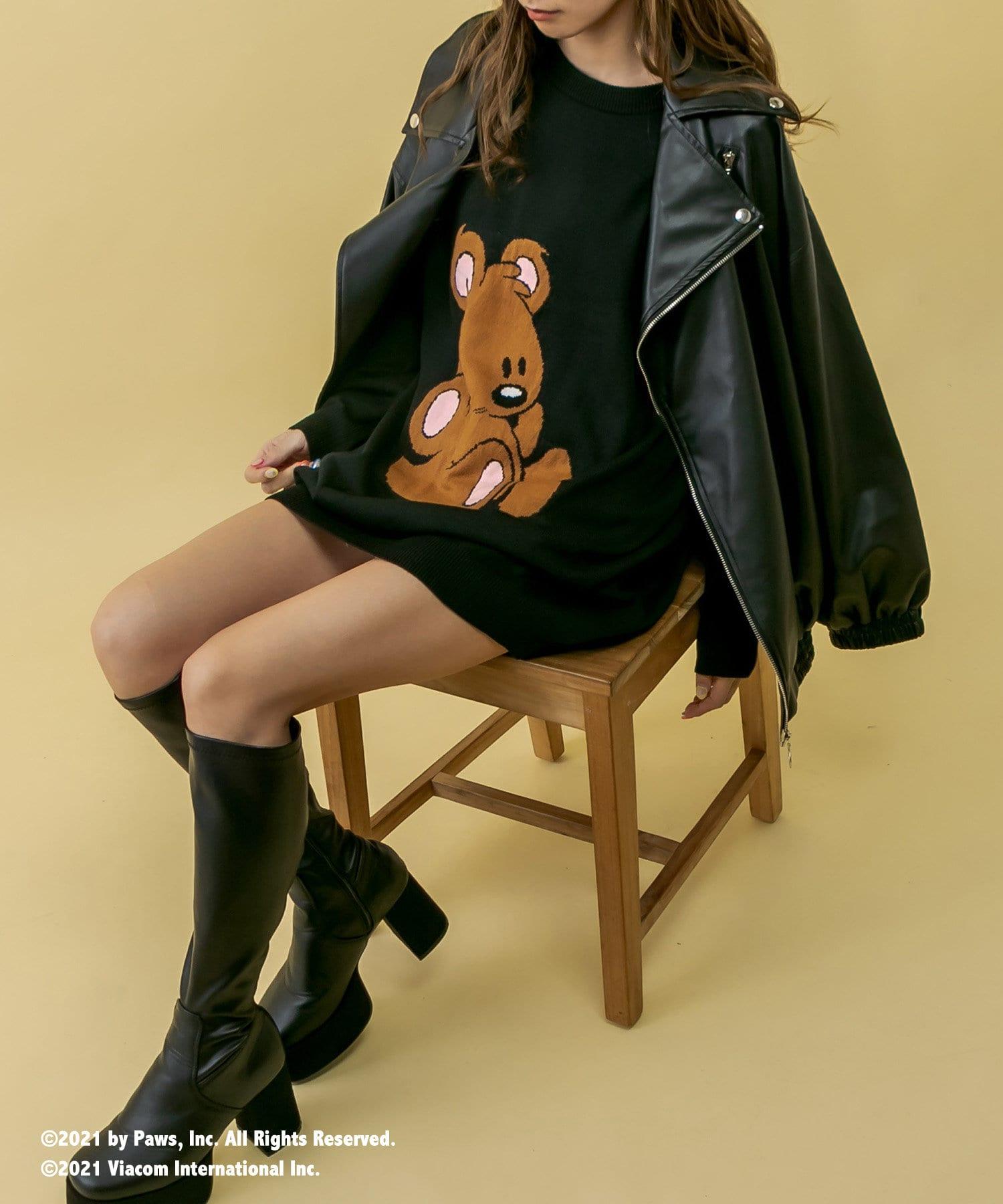 RASVOA(ラスボア) 【Garfieldコラボ】POOKYビッグニットワンピース