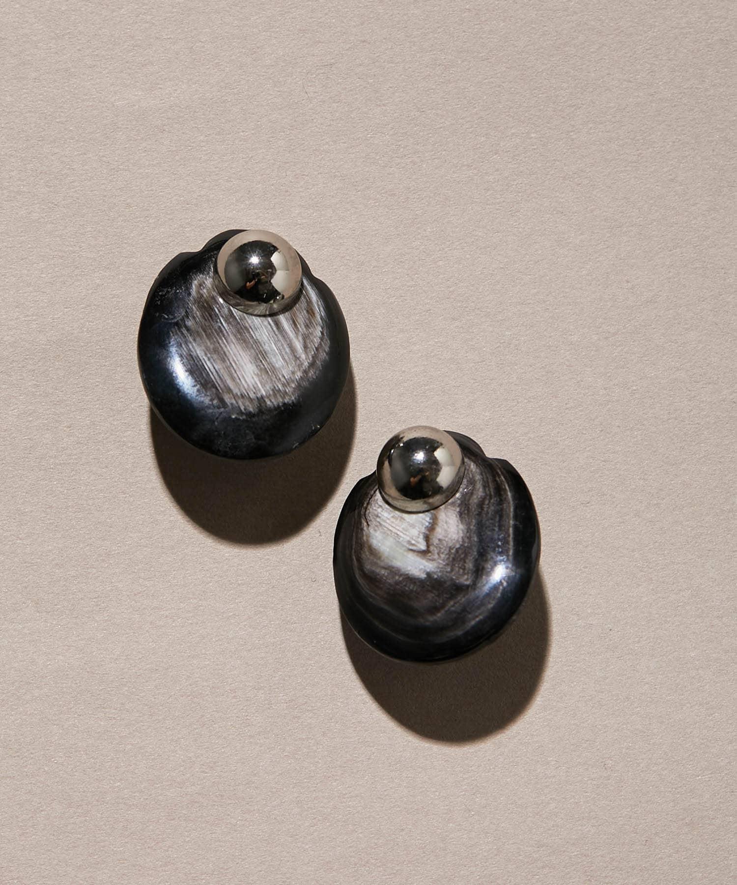 ear PAPILLONNER(イア パピヨネ) 水牛角オーバルイヤリング