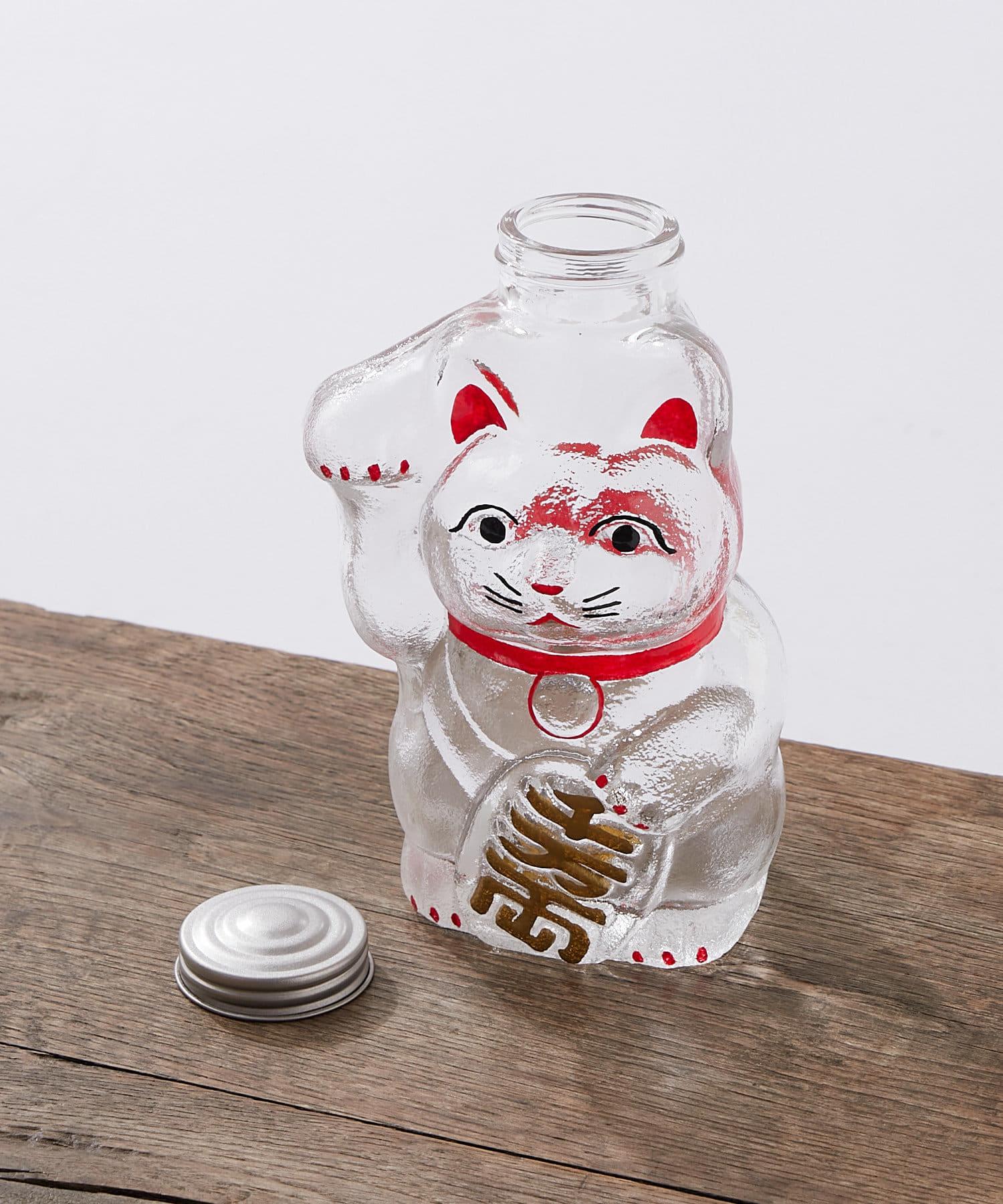 BONbazaar(ボンバザール) 【廣田硝子】招き猫 菓子瓶小