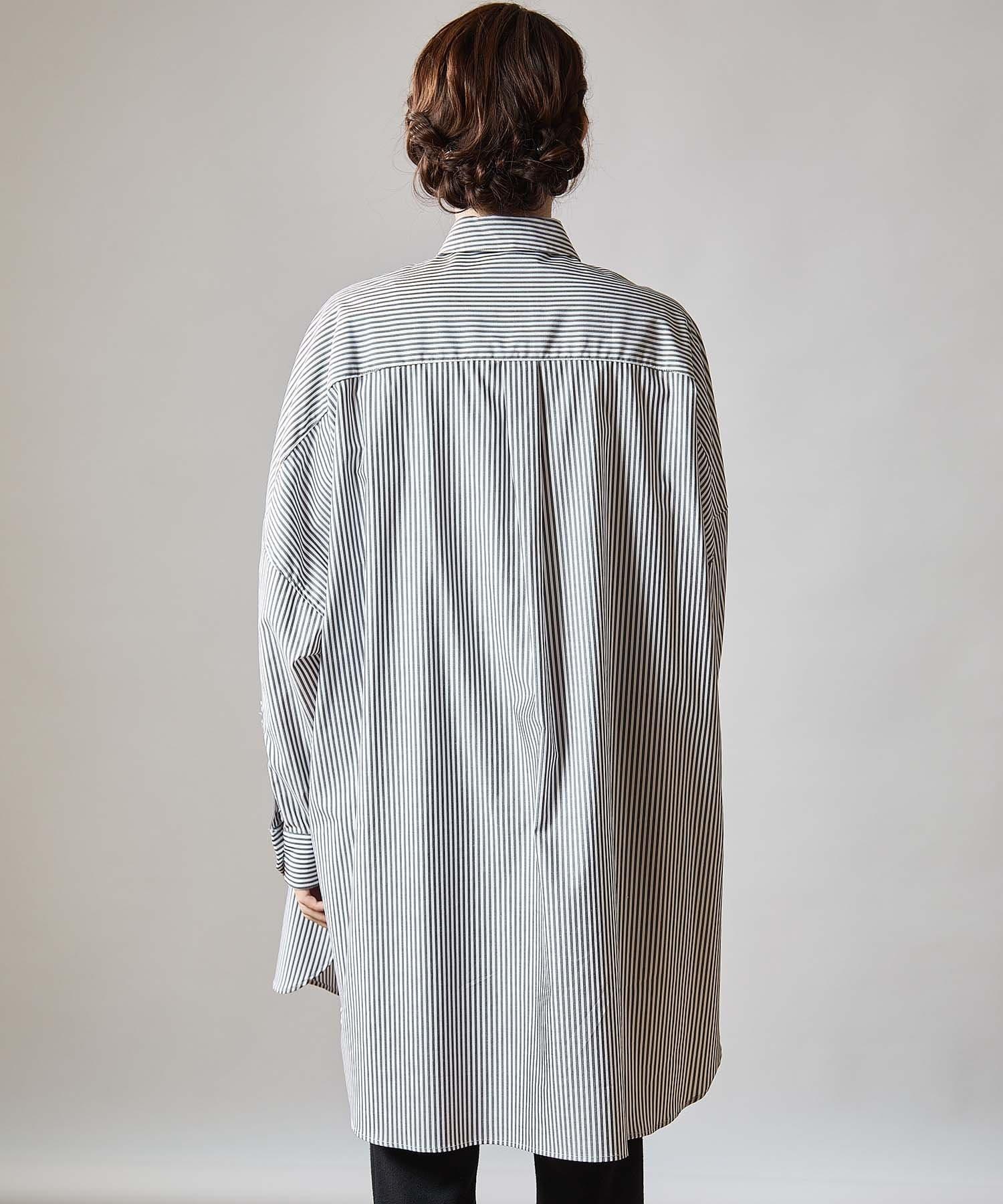 OUVRAGE CLASSE(ウヴラージュクラス) 【オンラインストア限定】ストライプビッグシャツ