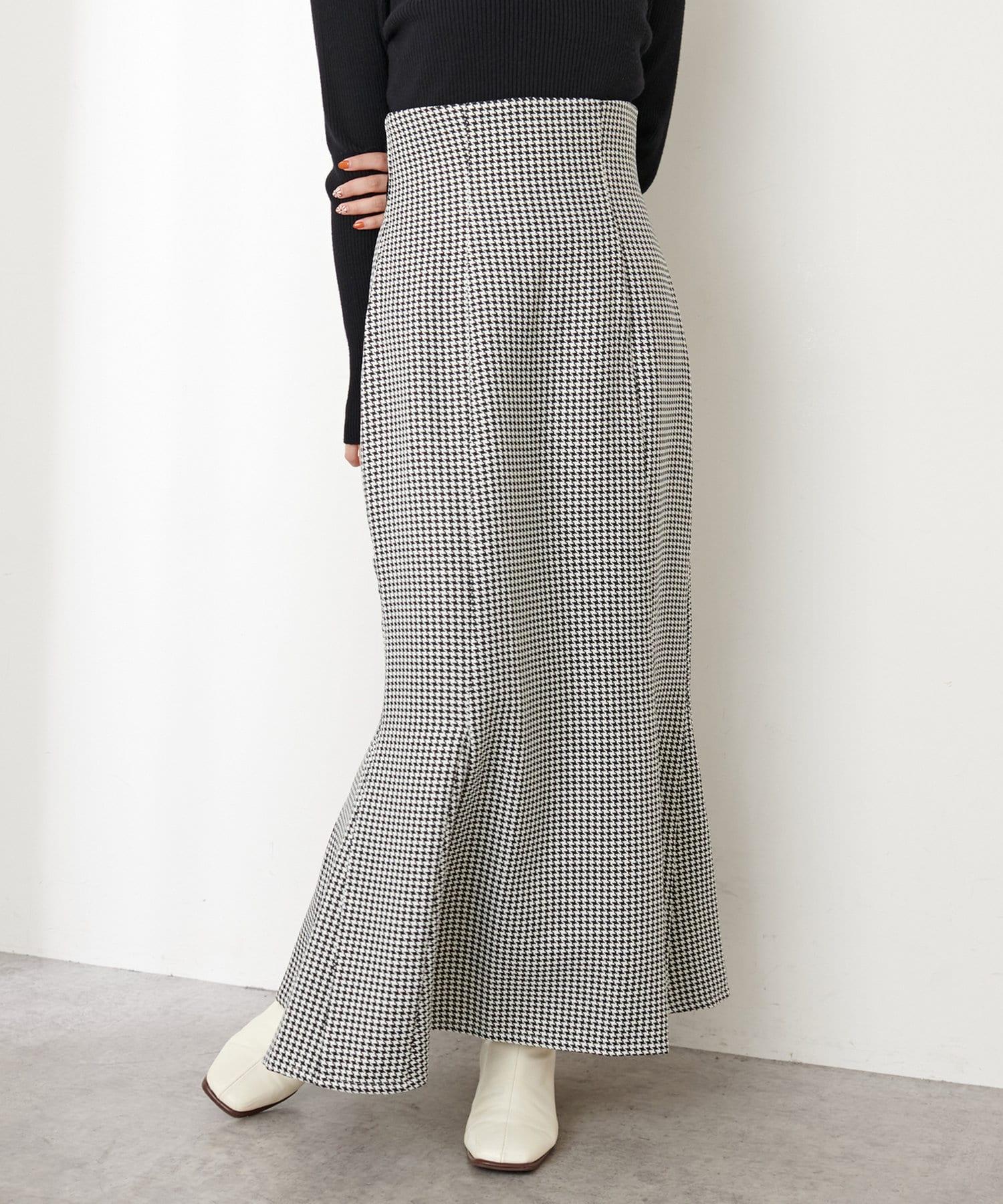 natural couture(ナチュラルクチュール) 【WEB限定カラー有り】ハイウエストスエードマーメイドスカート Sサイズ