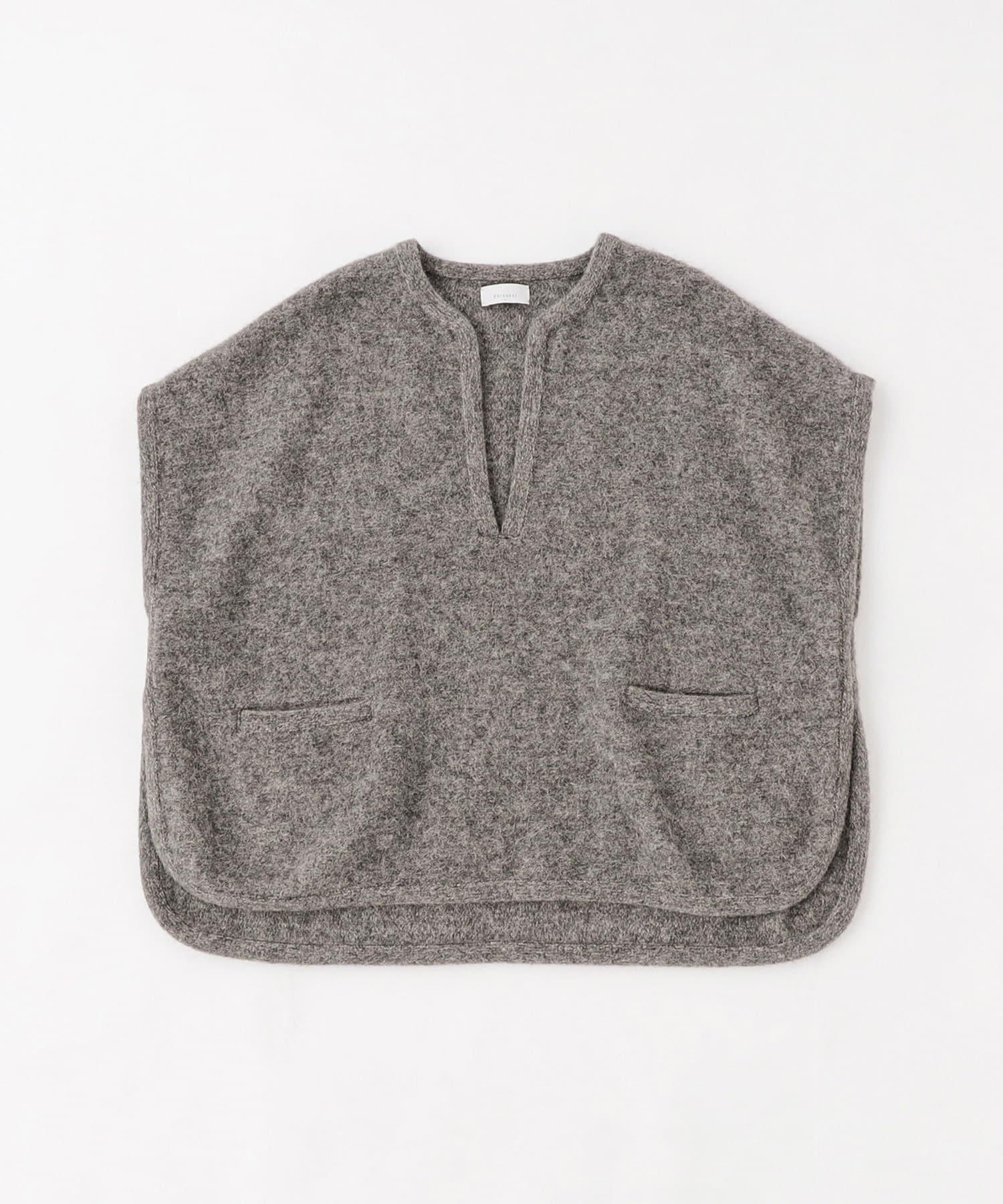 BLOOM&BRANCH(ブルームアンドブランチ) Phlannèl / Felt Wool Knit Poncho