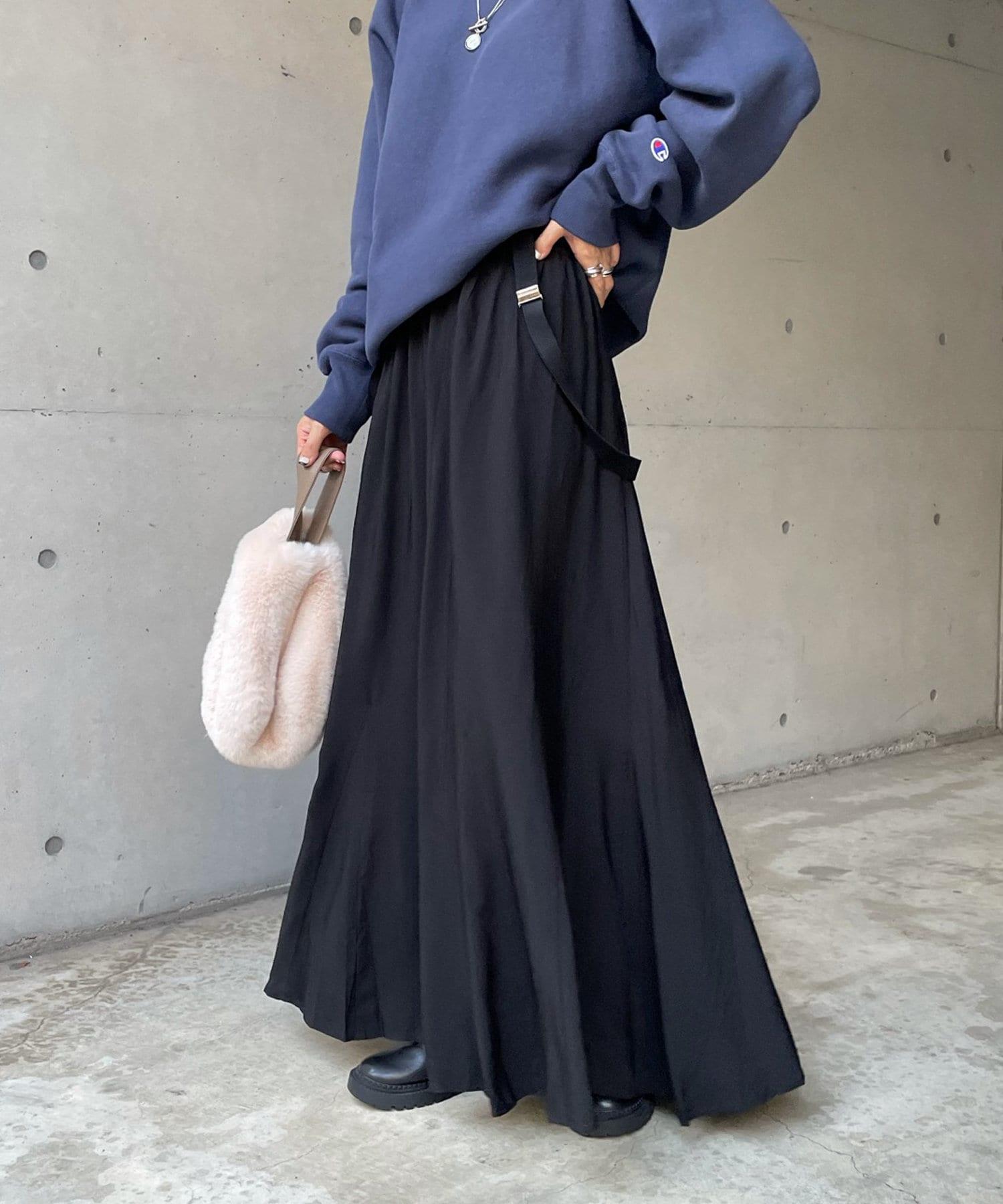 DOUDOU(ドゥドゥ) サスペンダー付スカート