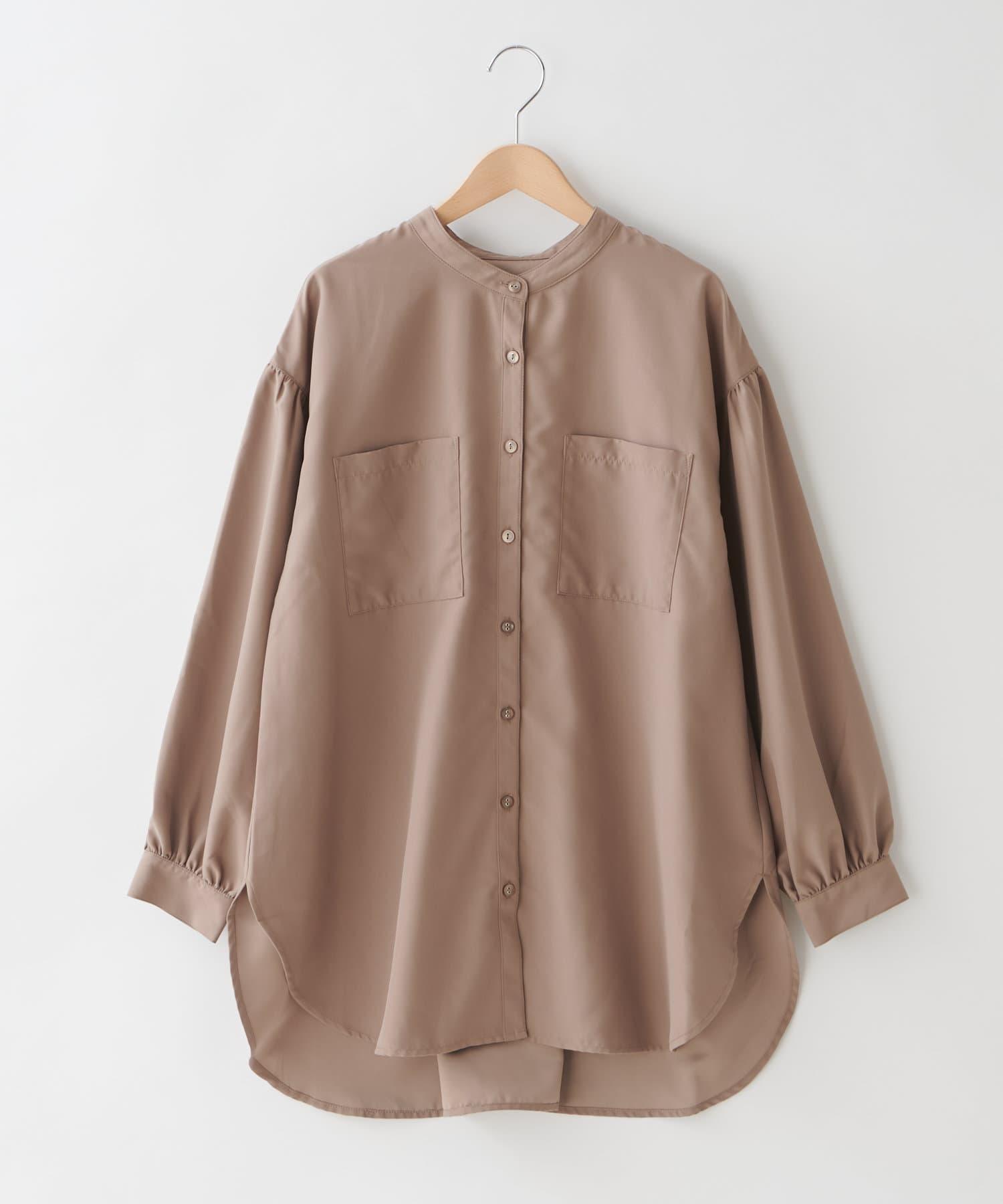 OLIVE des OLIVE OUTLET(オリーブ・デ・オリーブ アウトレット) フェークスエードBACKリボンバンドカラーシャツ