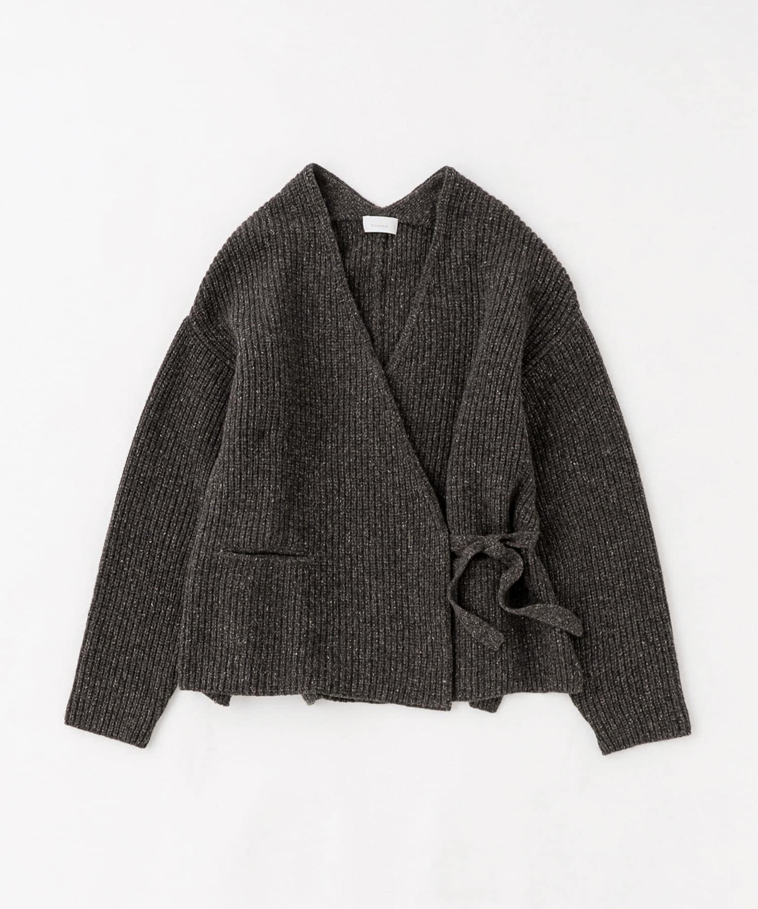 BLOOM&BRANCH(ブルームアンドブランチ) Phlannèl / Wool Silk Nep Wrap Cardigan