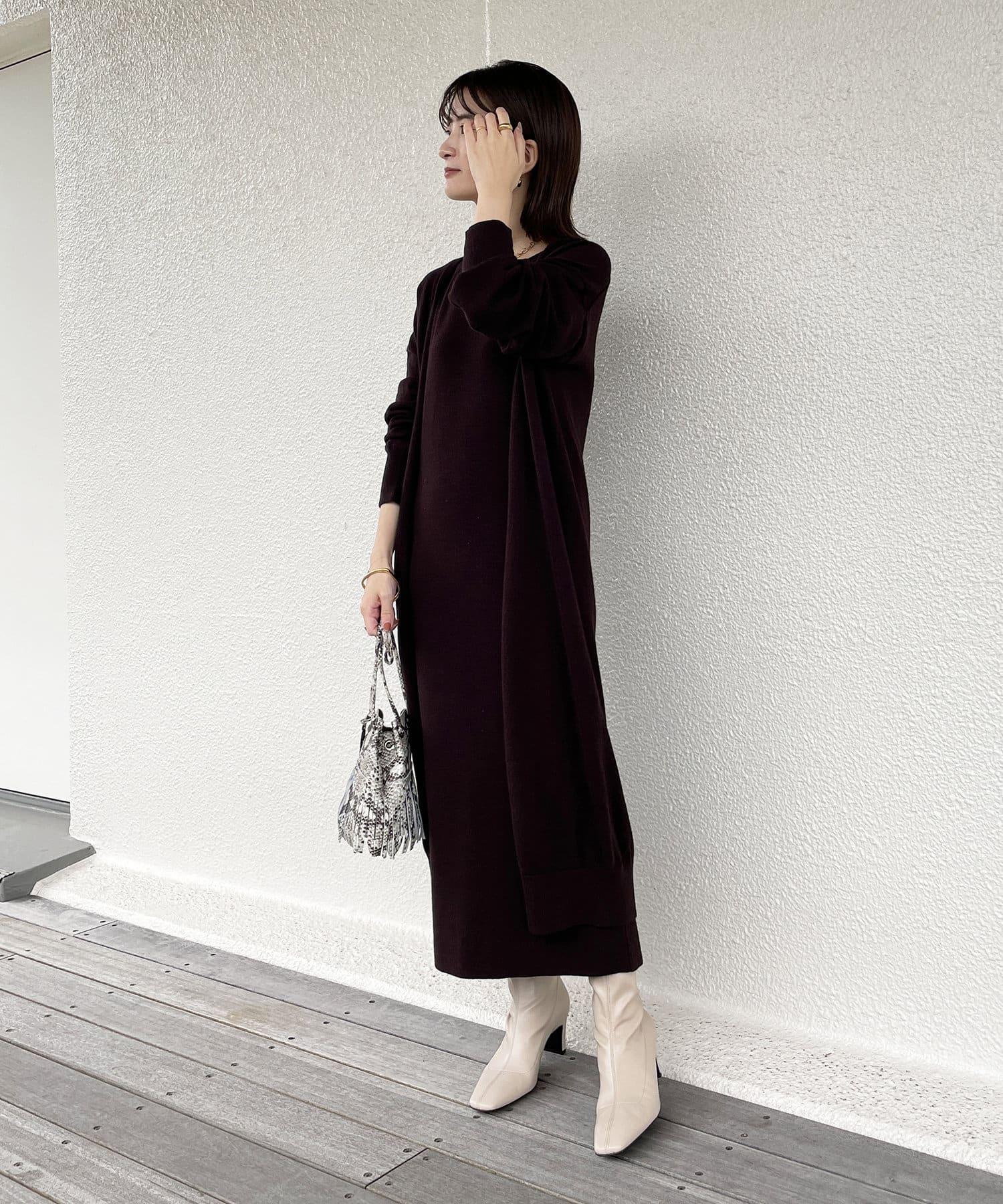 Loungedress(ラウンジドレス) 【odore/オドル】アンゴラニットセットワンピース