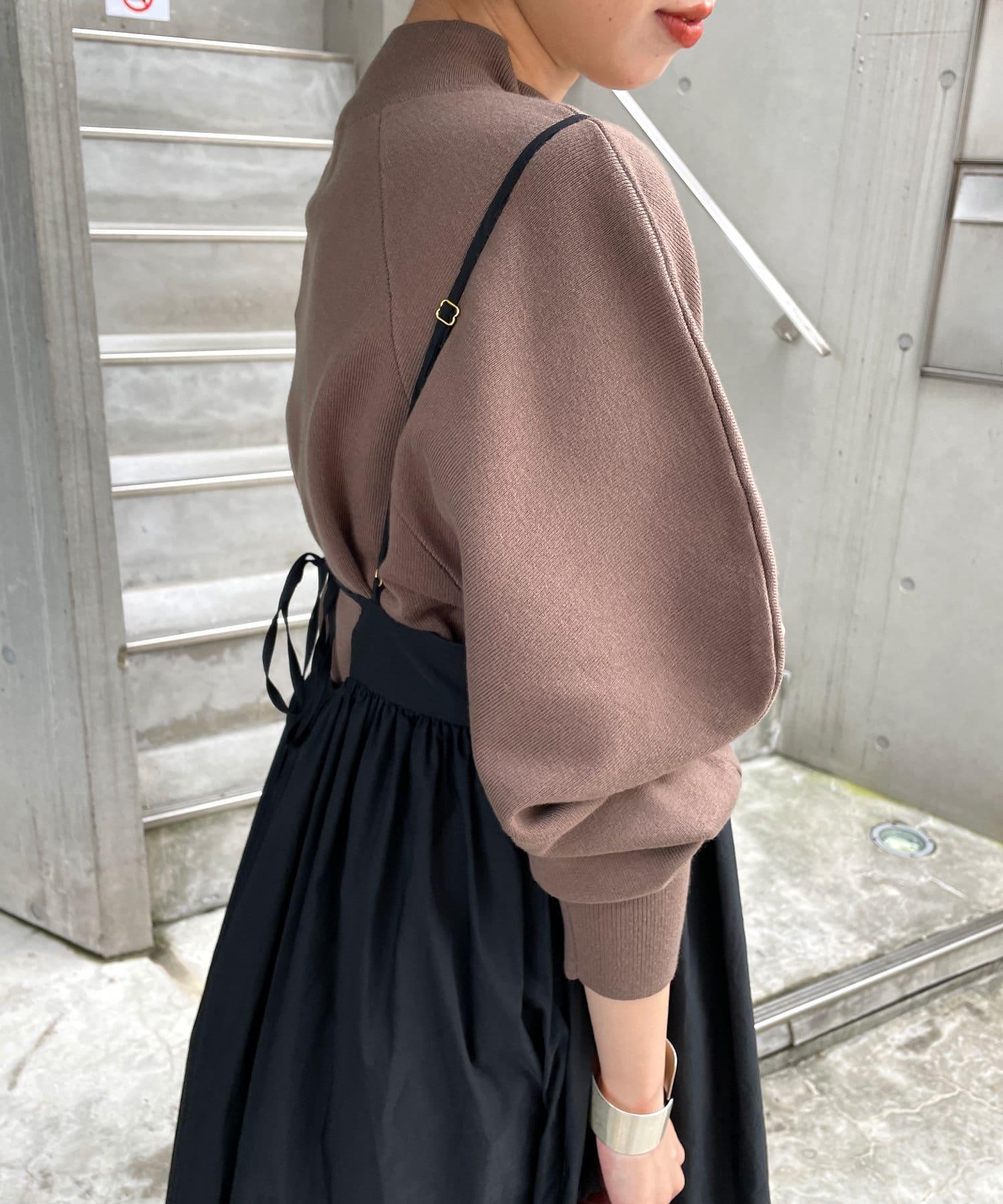 Omekashi(オメカシ) サスペンダー付タフタギャザースカート
