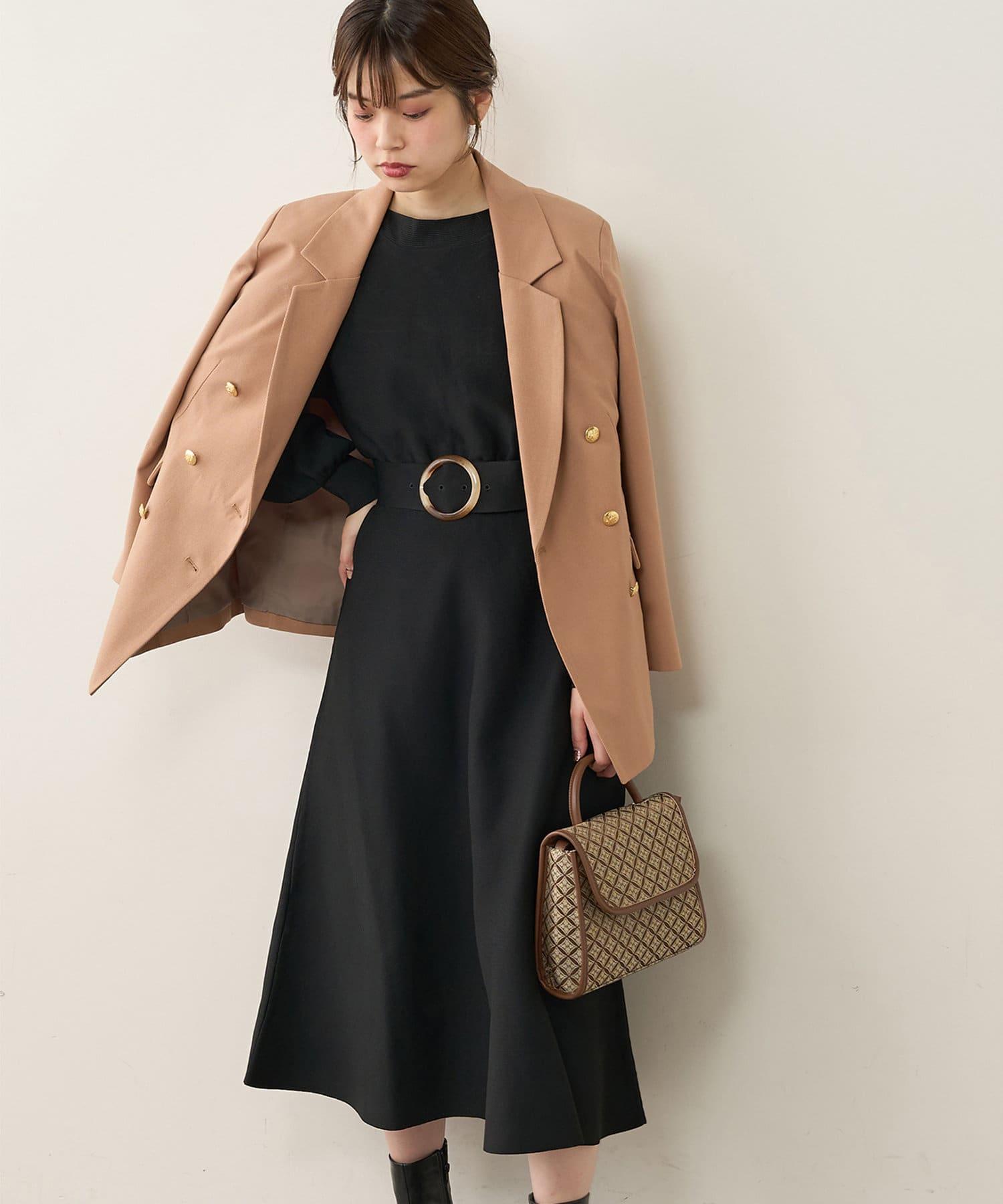 natural couture(ナチュラルクチュール) フワ軽2WAY Aラインワンピース