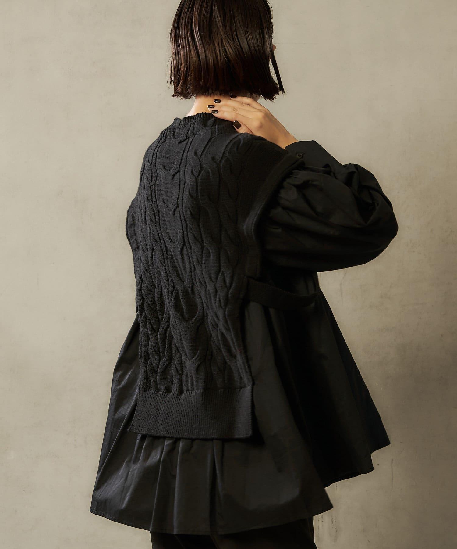 ear PAPILLONNER(イア パピヨネ) 【SUM1 STYLE(スミ スタイル)】 ニットコンビシャツ