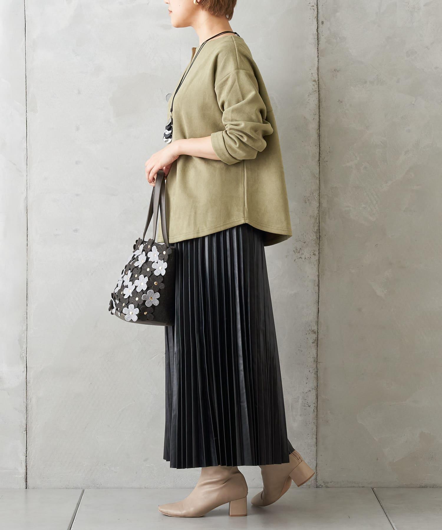 Pal collection(パルコレクション) 《今年注目アイテム》エコレザープリーツスカート