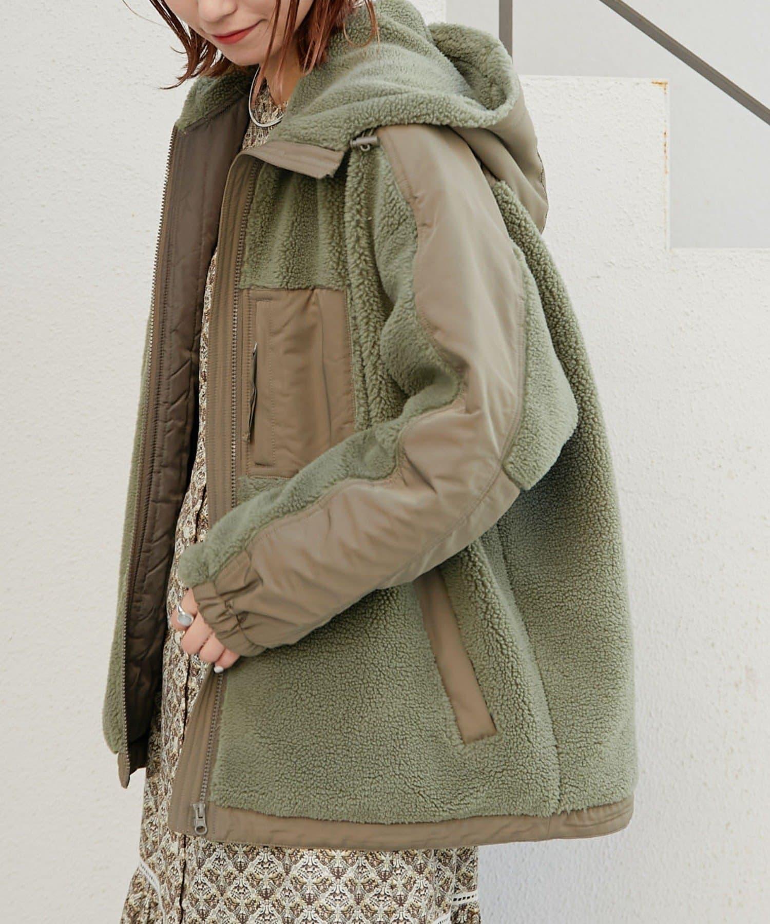 CIAOPANIC TYPY(チャオパニックティピー) ボア切替フードジャケット