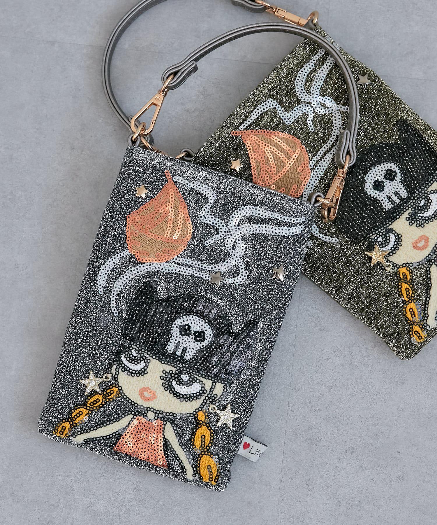 Pal collection(パルコレクション) 《個性派バッグ》バイキングガールスマホバッグ