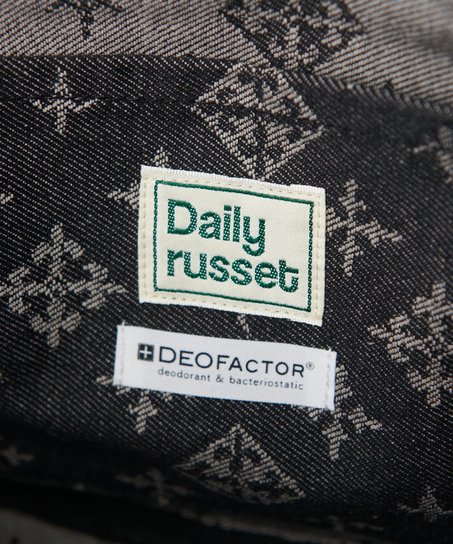 Daily russet(デイリー ラシット) 【制菌・抗菌・防臭】デニムジャガード テープトートバッグ(小)